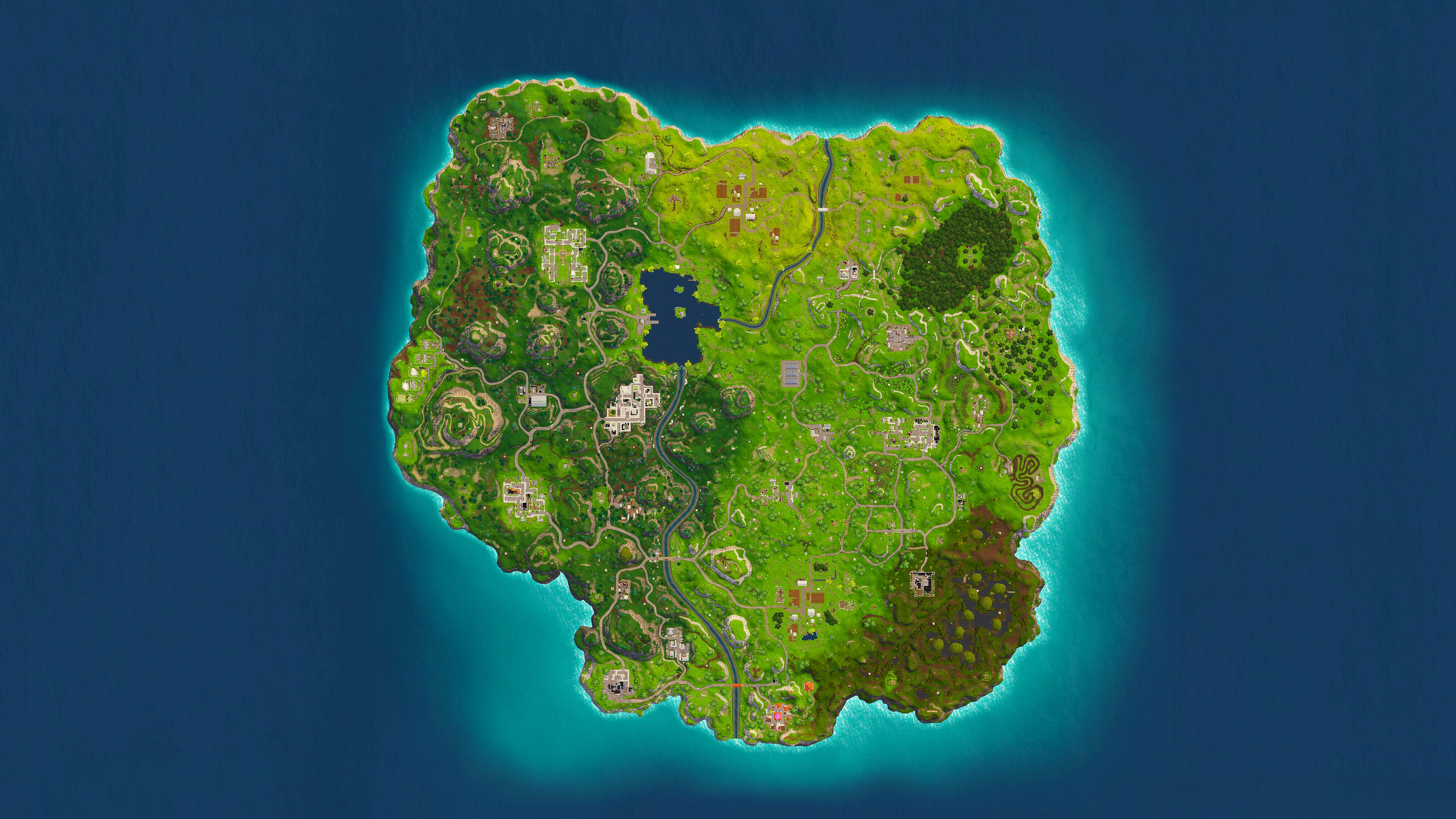 Fortnite Map Wallpaper 4K Ultra HD