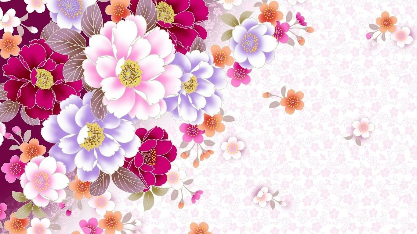Abstract Floral Desktop Wallpapers