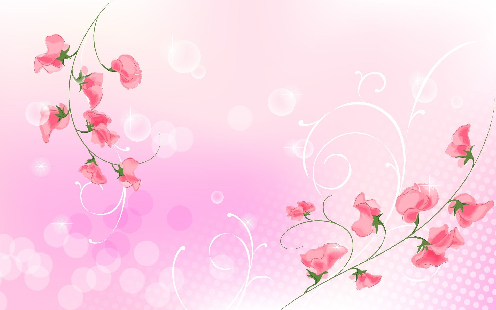 Abstract Floral Mobile Wallpapers