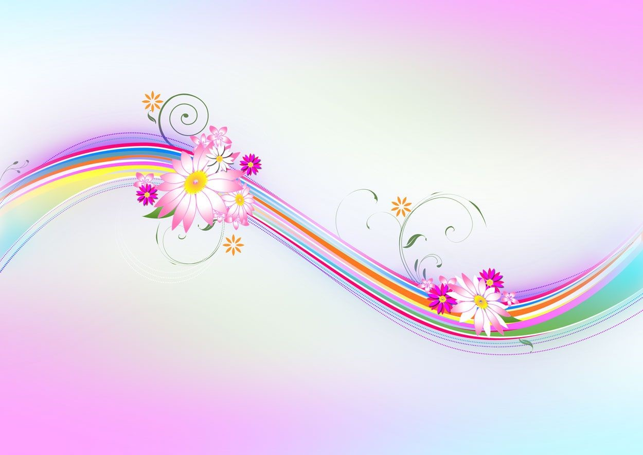Abstract Floral Windows Background