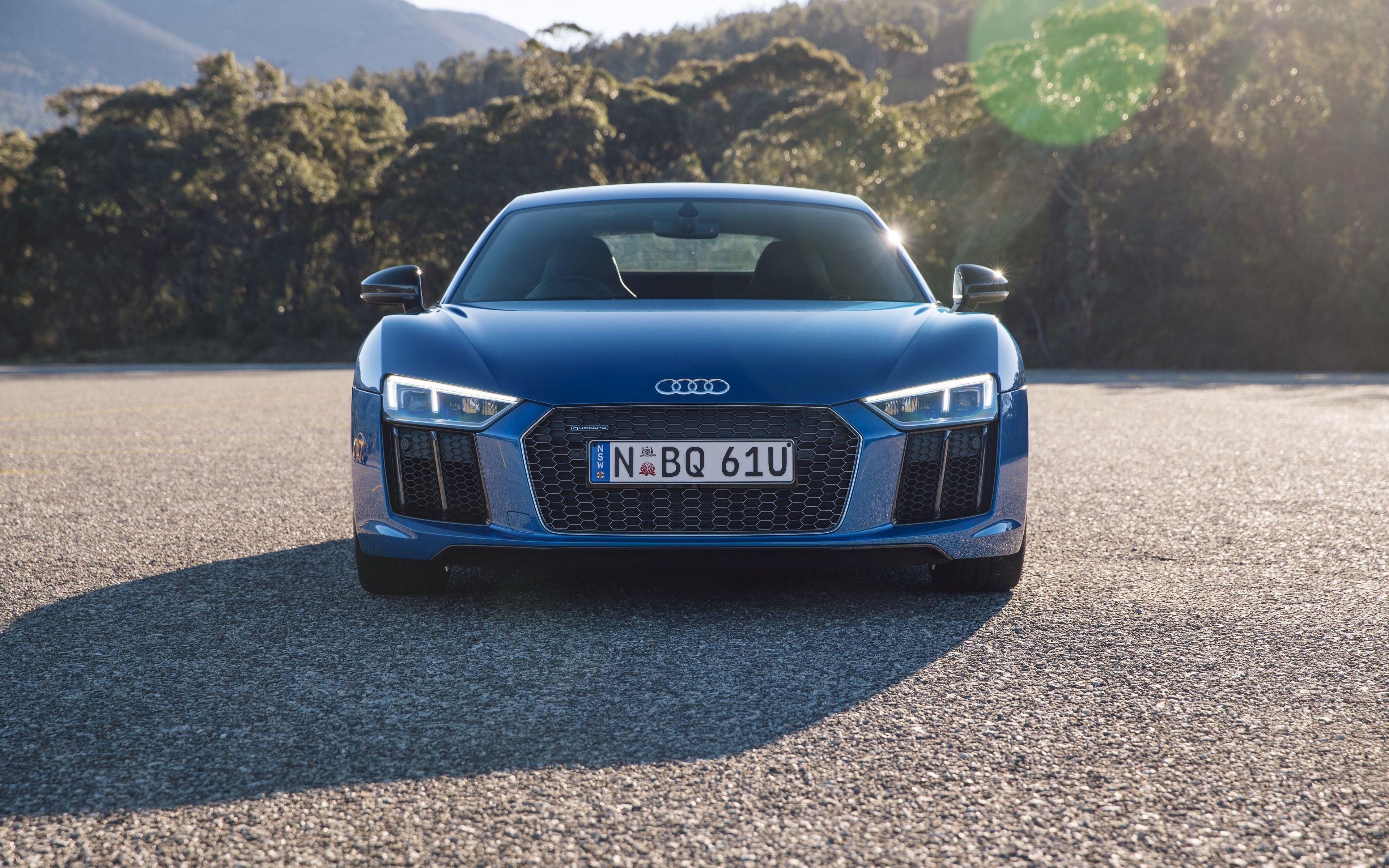 Audi R8 Front Desktop Wallpapers