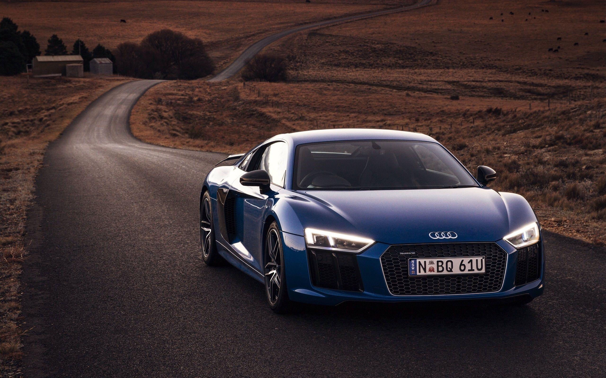 Audi R8 Front Free Wallpaper