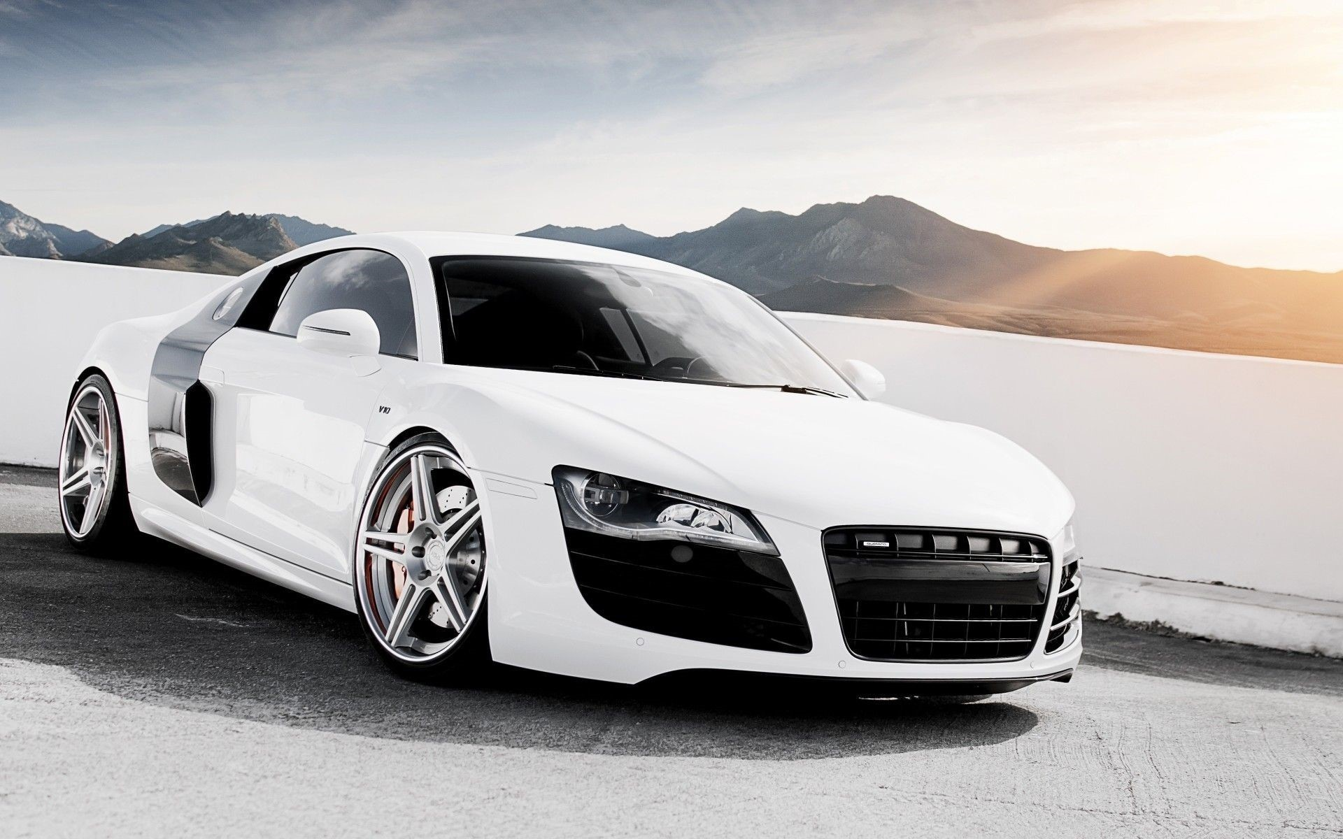 Audi R8 Front Mobile Wallpapers