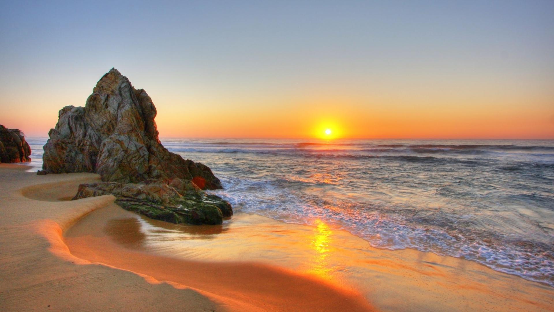 Beach Sunset Background