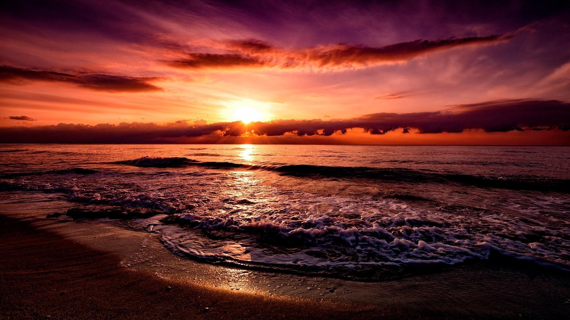 Beach Sunset Desktop Wallpapers