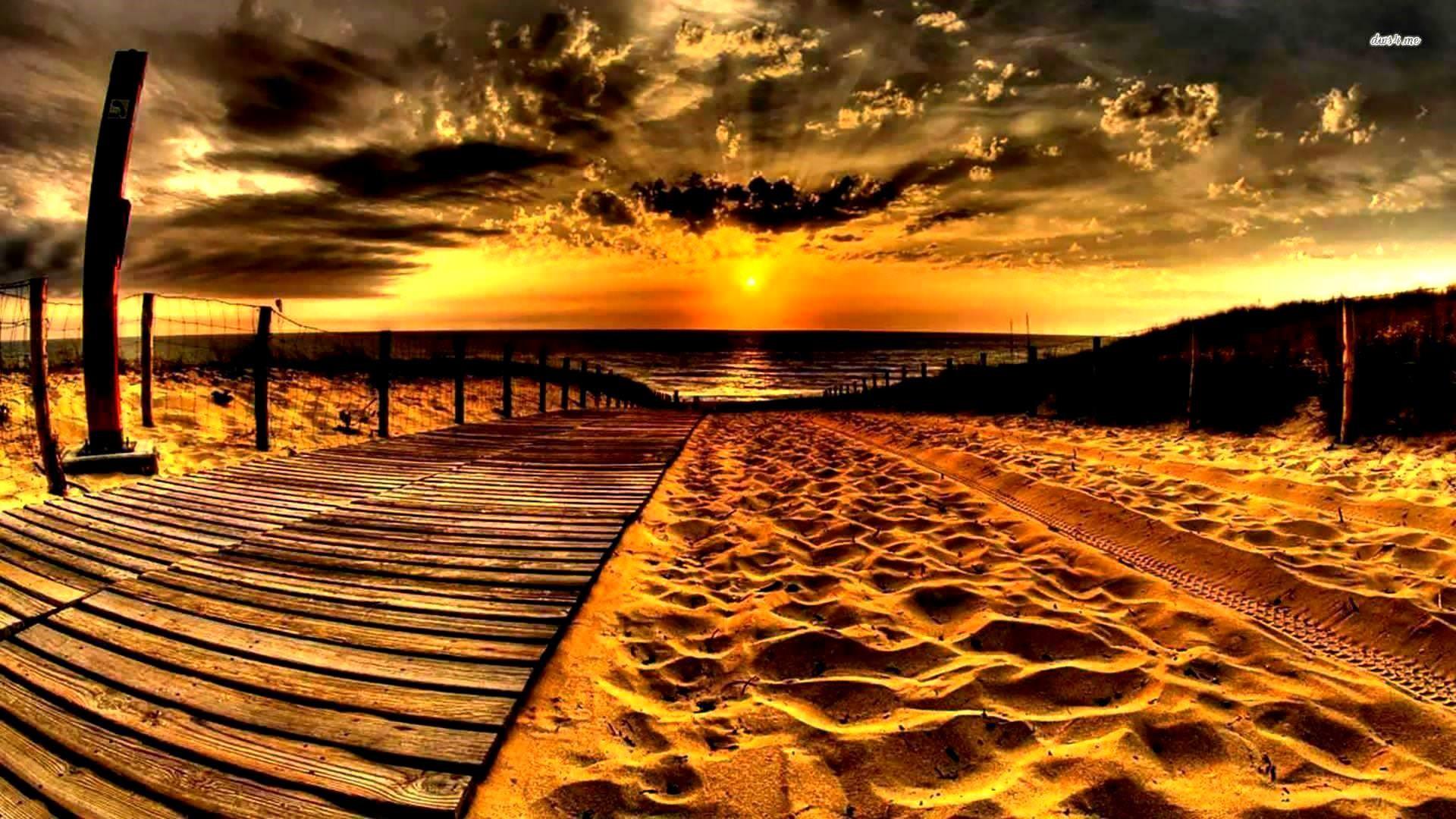 Beach Sunset HD Background