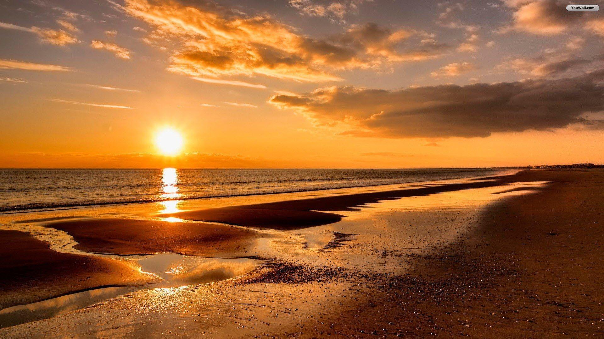 Beach Sunset Windows Background