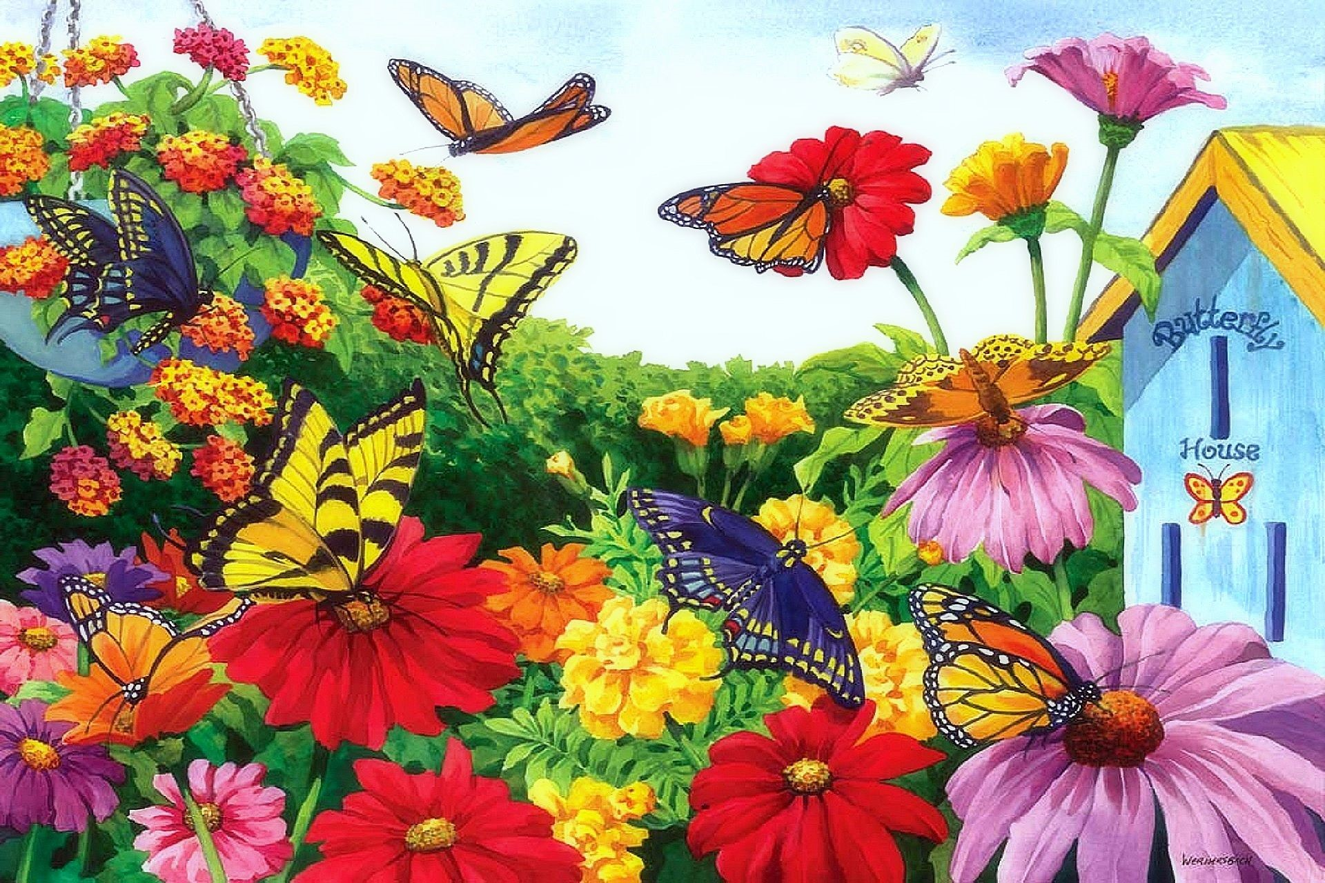 Butterfly Garden Mobile Wallpapers