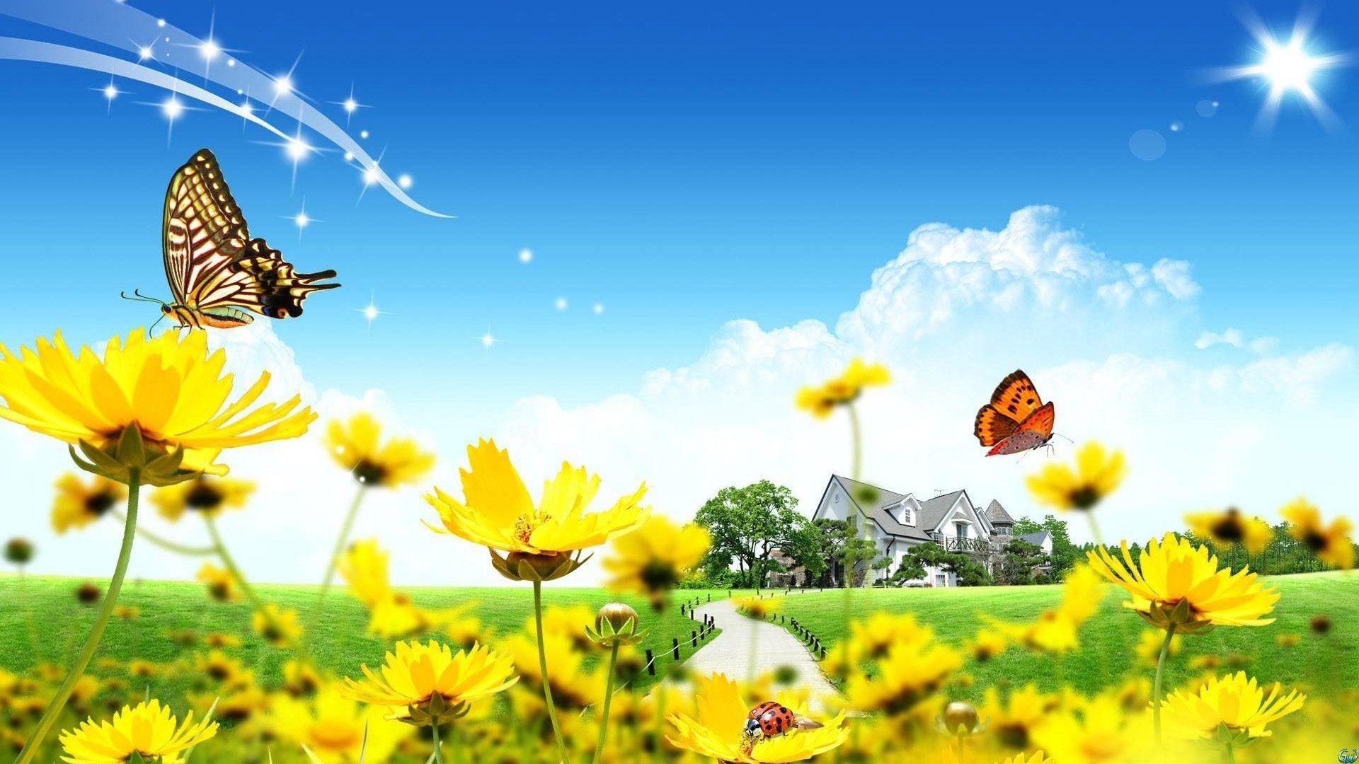 Butterfly Garden Wallpapers