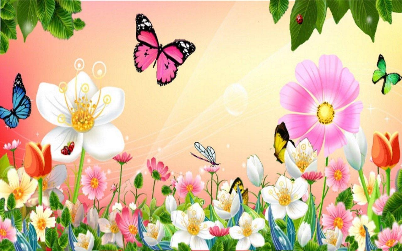 Butterfly Garden Windows Background