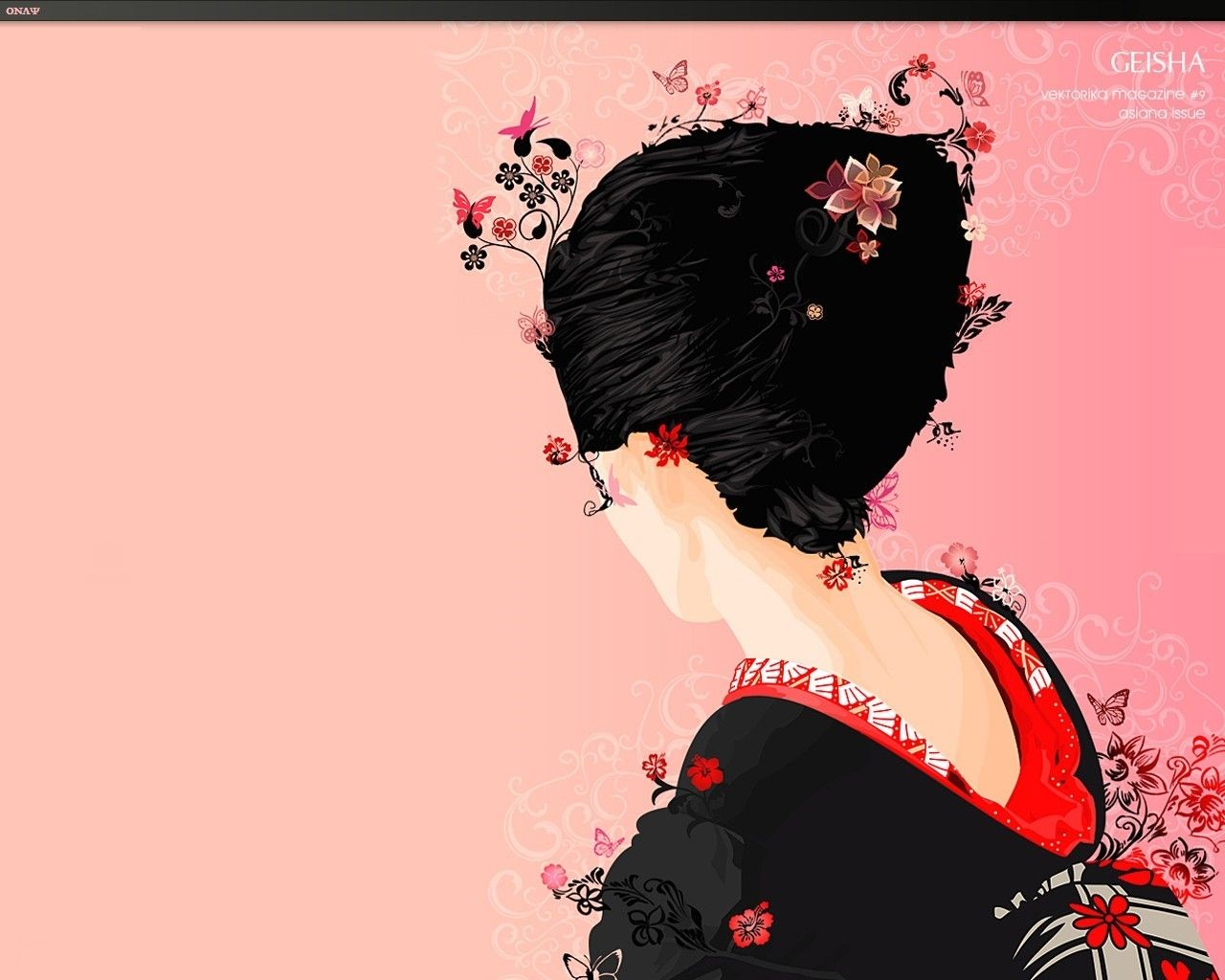 Japanese Geisha Girls Art Background