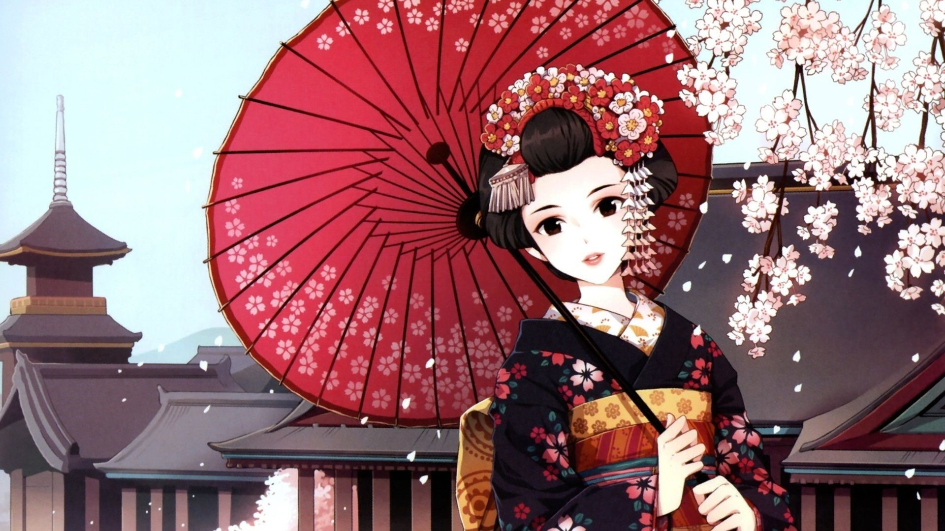 Japanese Geisha Girls Art Desktop Wallpapers