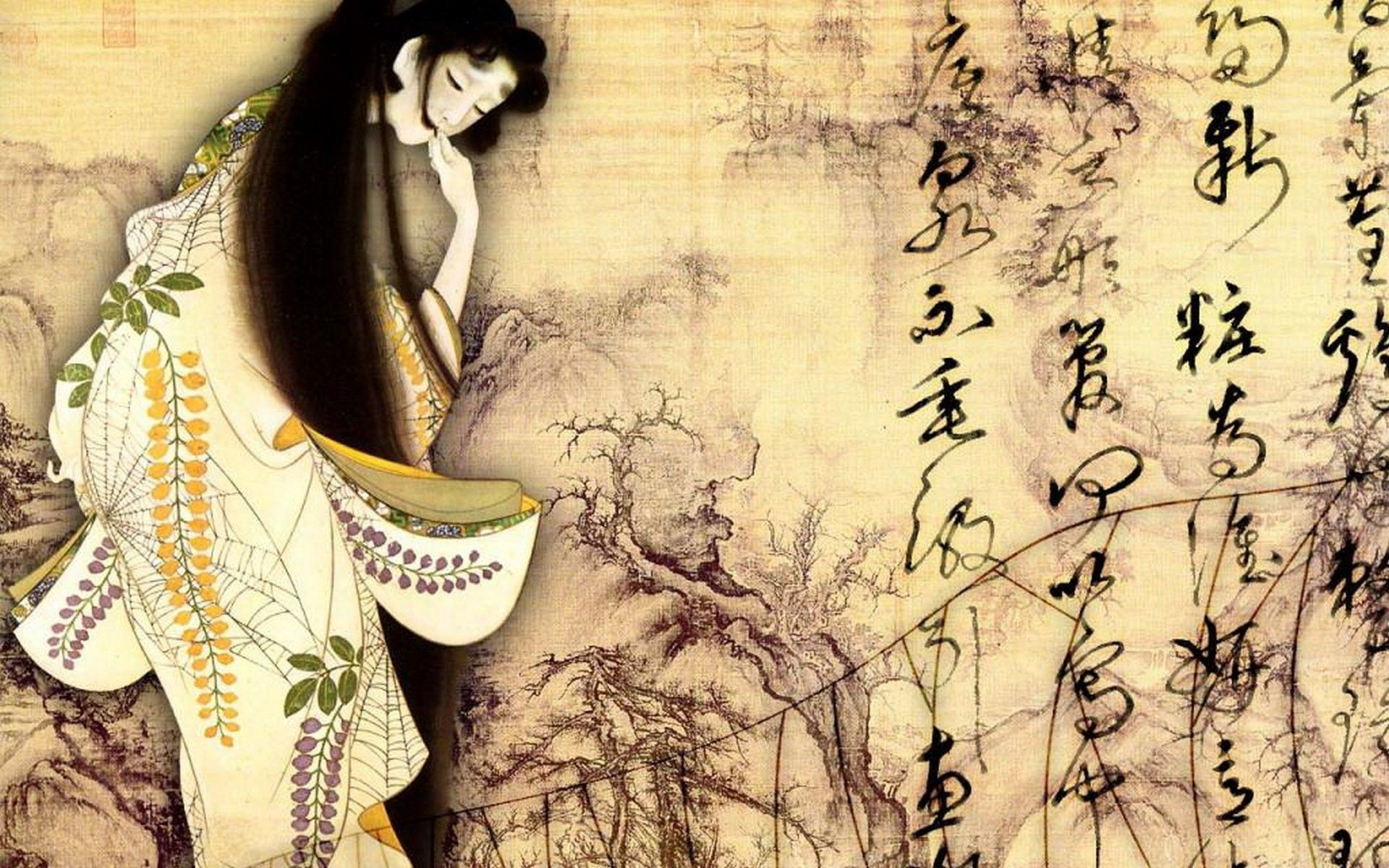 Japanese Geisha Girls Art HD Wallpapers