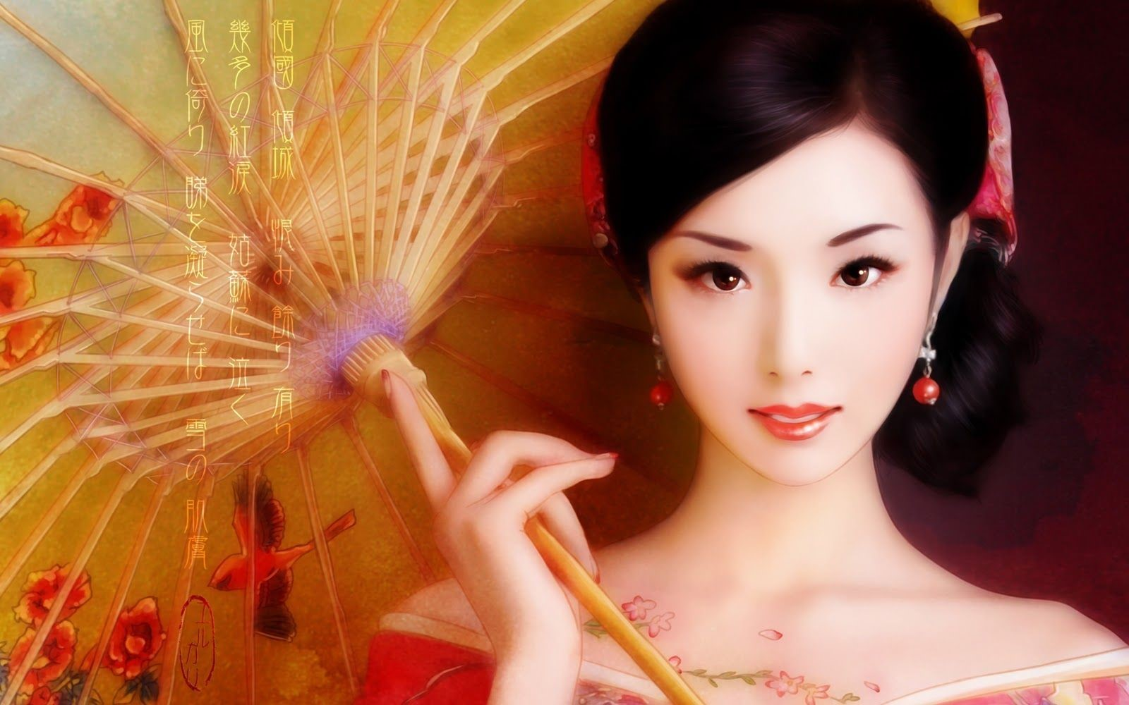 Japanese Geisha Girls Art Mobile Wallpapers