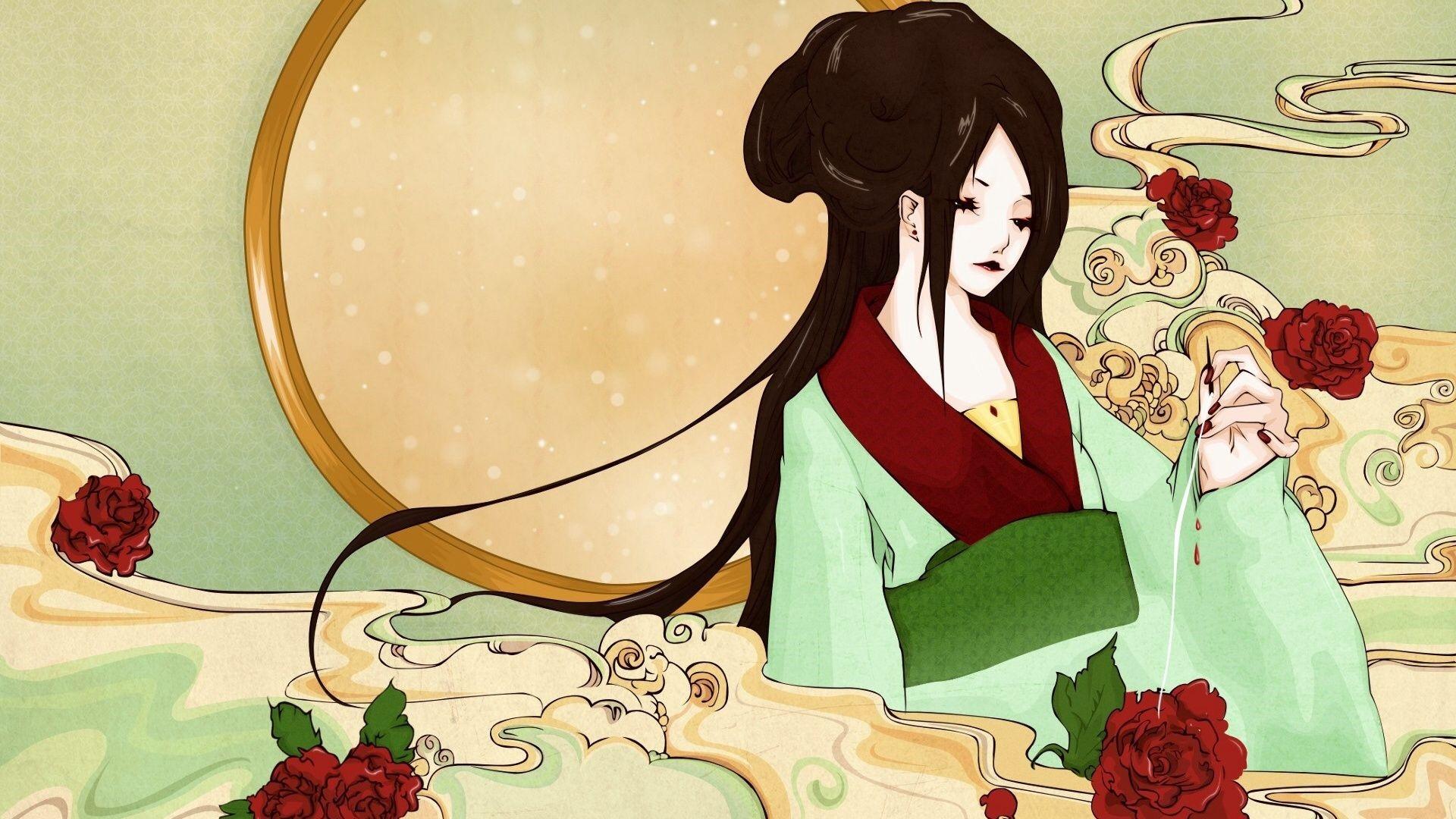 Japanese Geisha Girls Art Photo