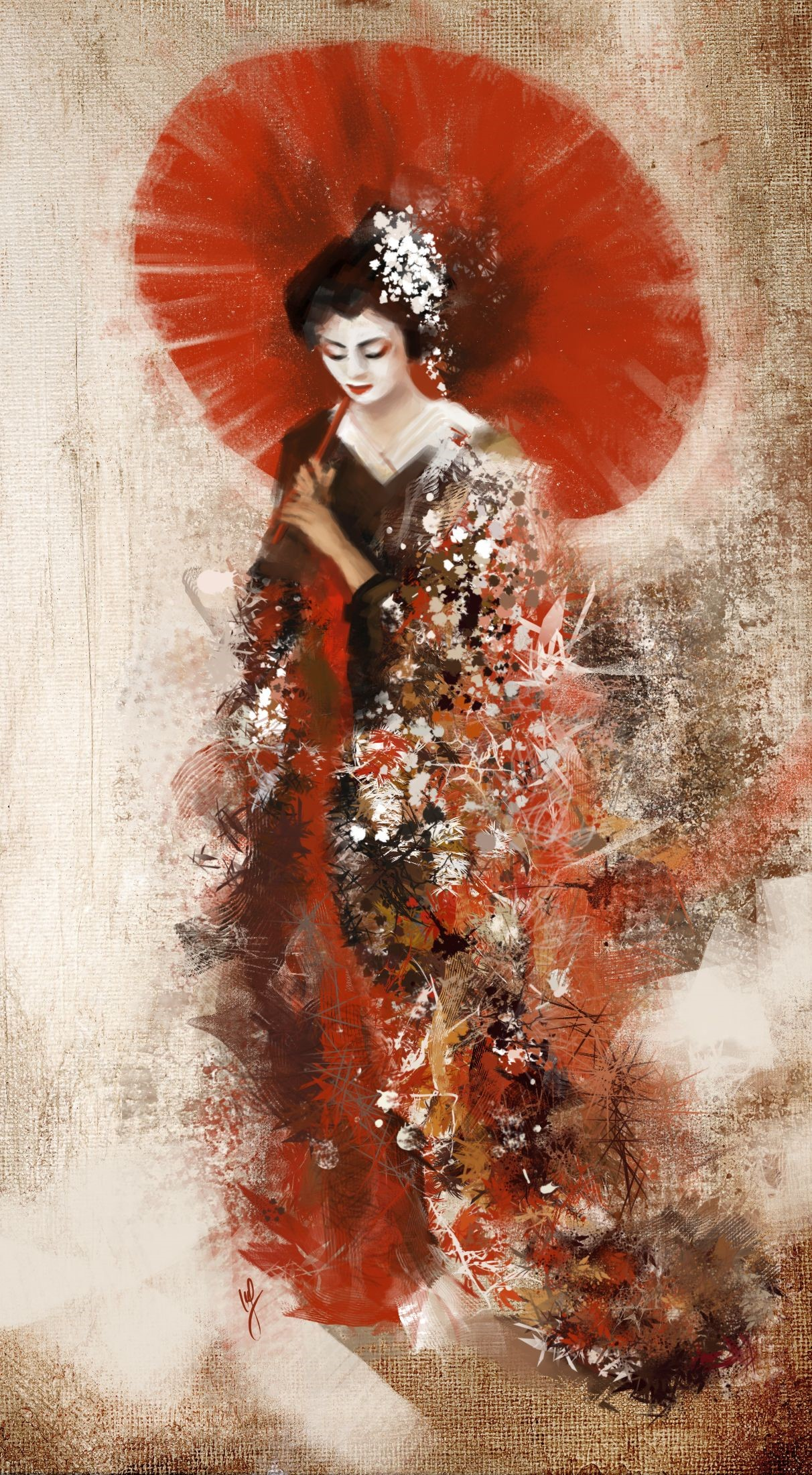 Japanese Geisha Girls Art Pictures