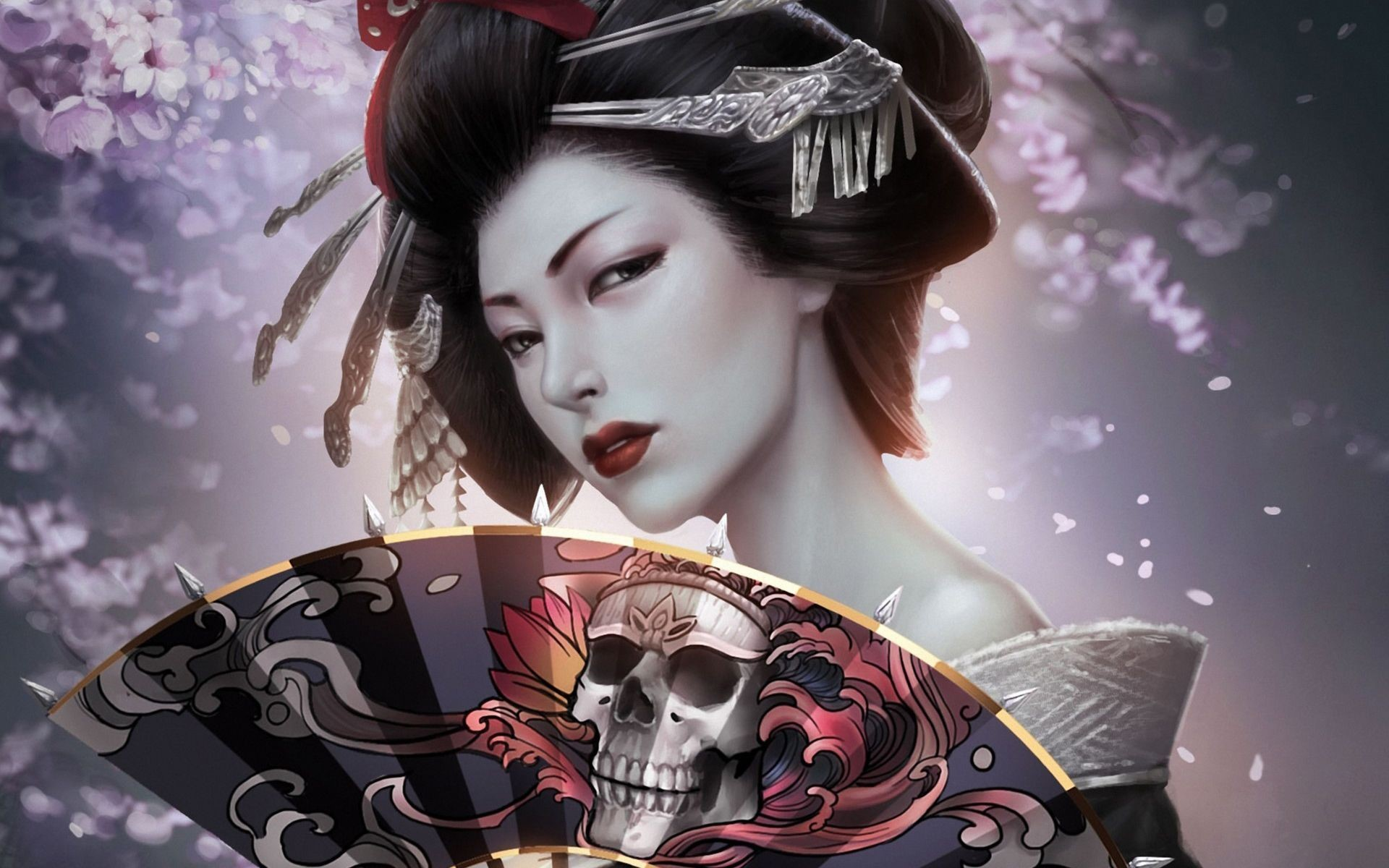 Japanese Geisha Girls Art Wallpaper