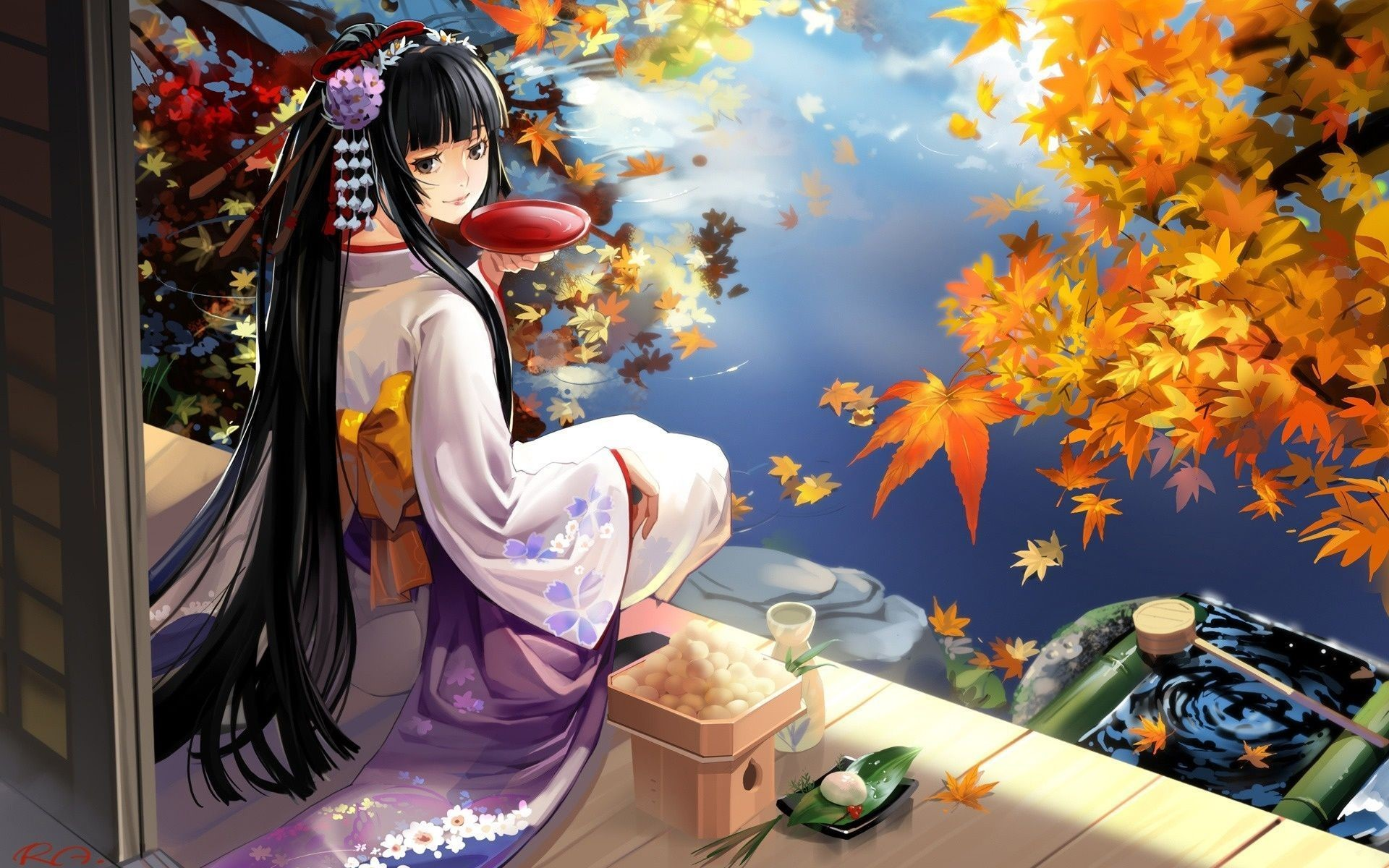 Japanese Geisha Girls Art iphone Wallpapers