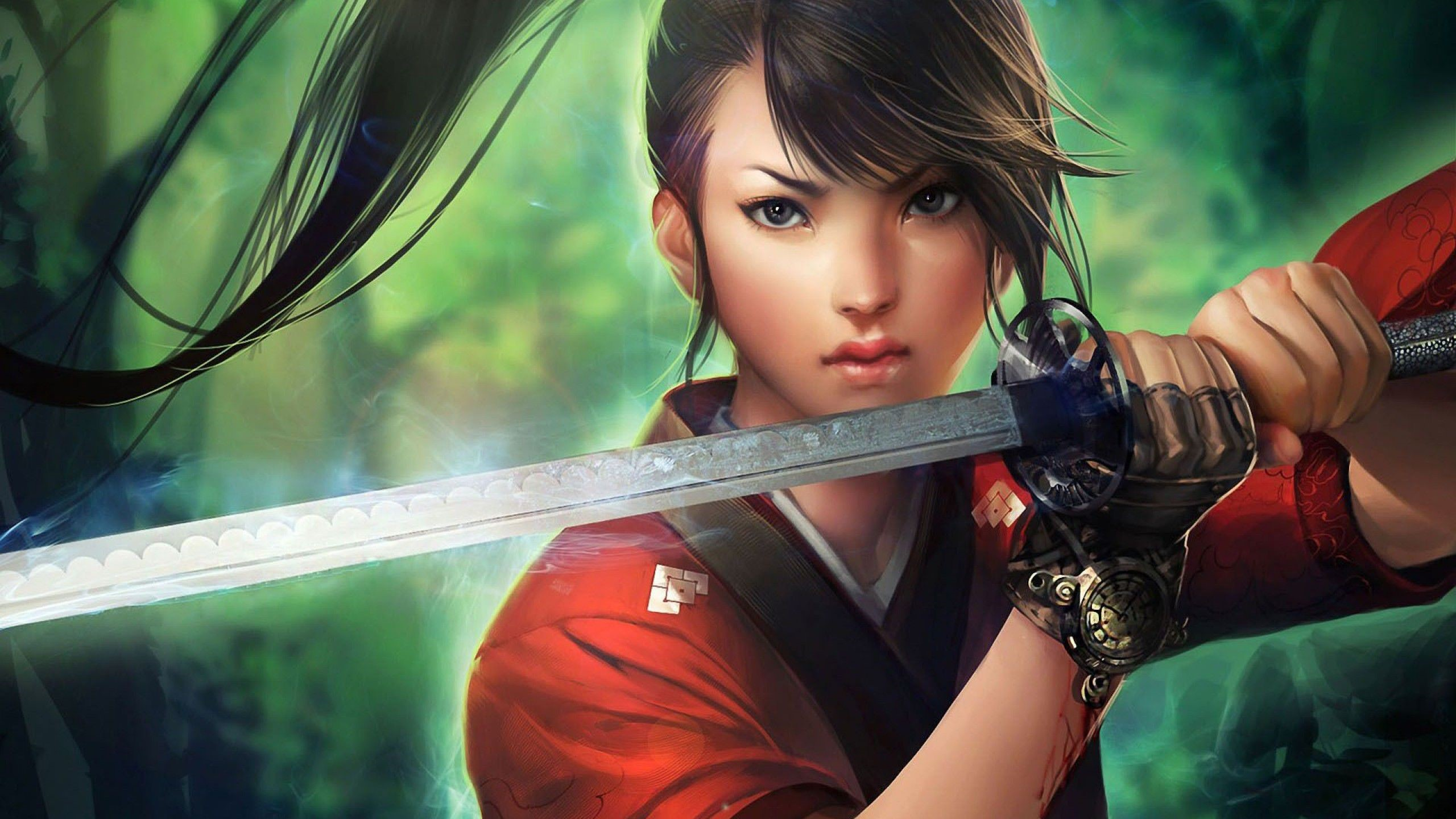 Japanese Samurai Girl 1080p Wallpapers