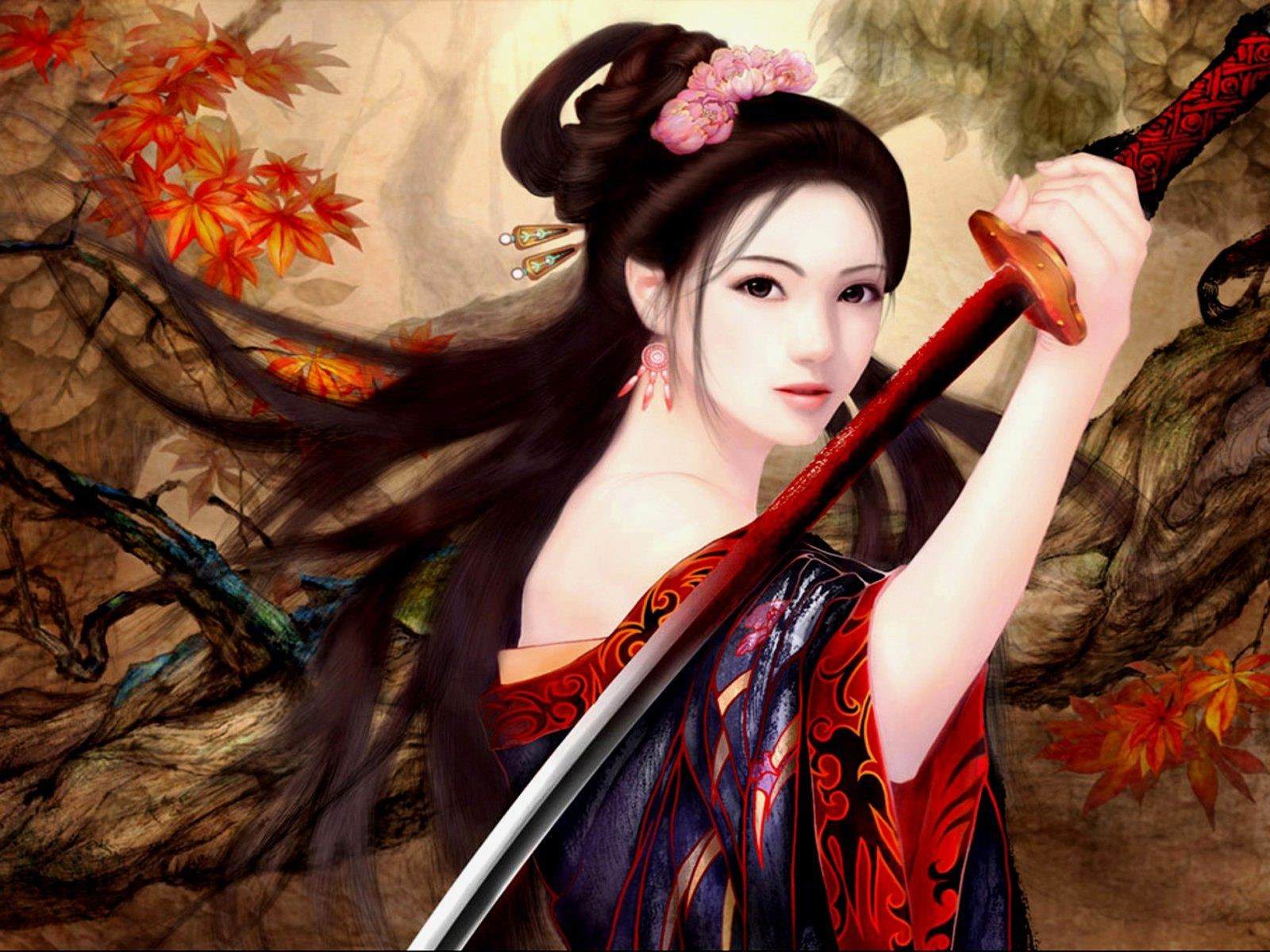 Japanese Samurai Girl UHD Wallpapers