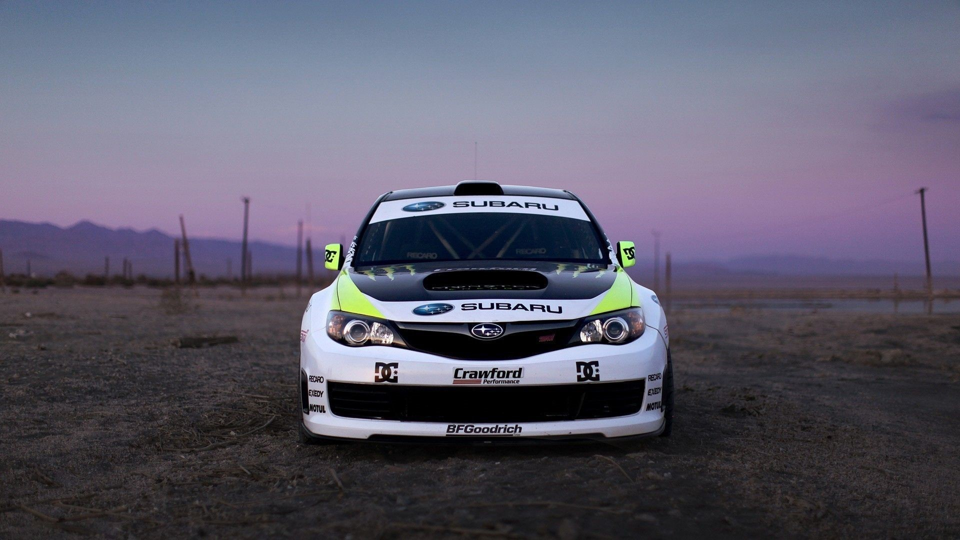 Subaru Rally Car Background