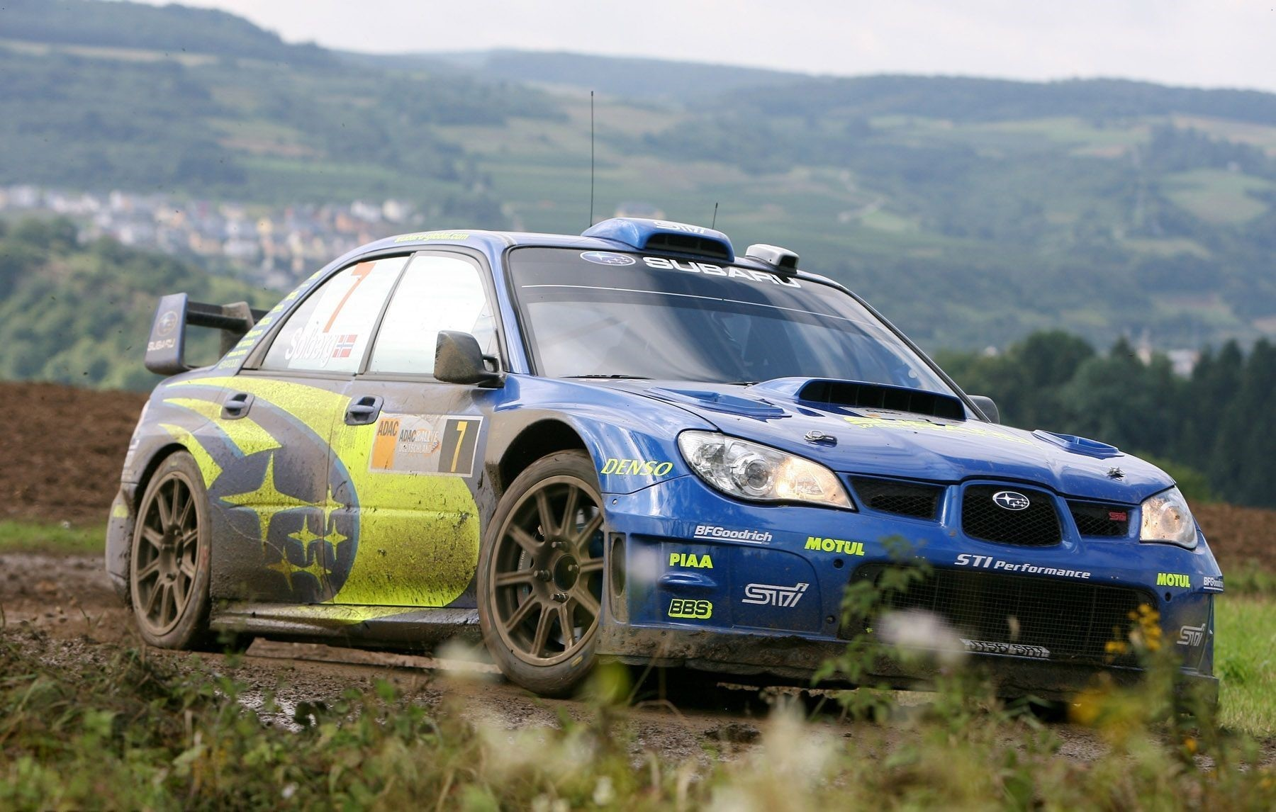 Subaru Rally Car Free Wallpaper