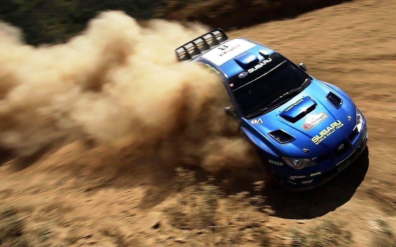 Subaru Rally Car HD Background