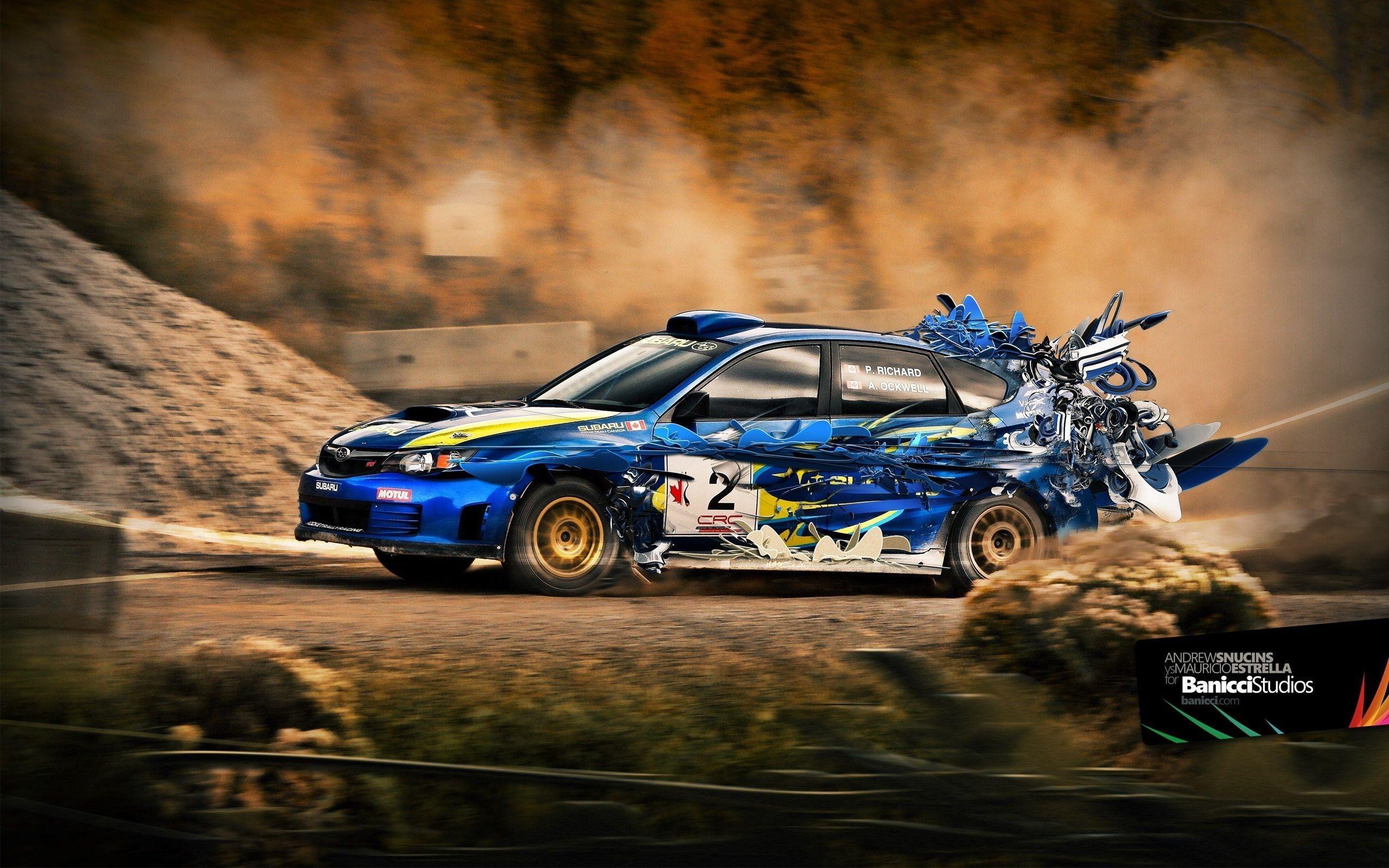 Subaru Rally Car HTC Wallpapers