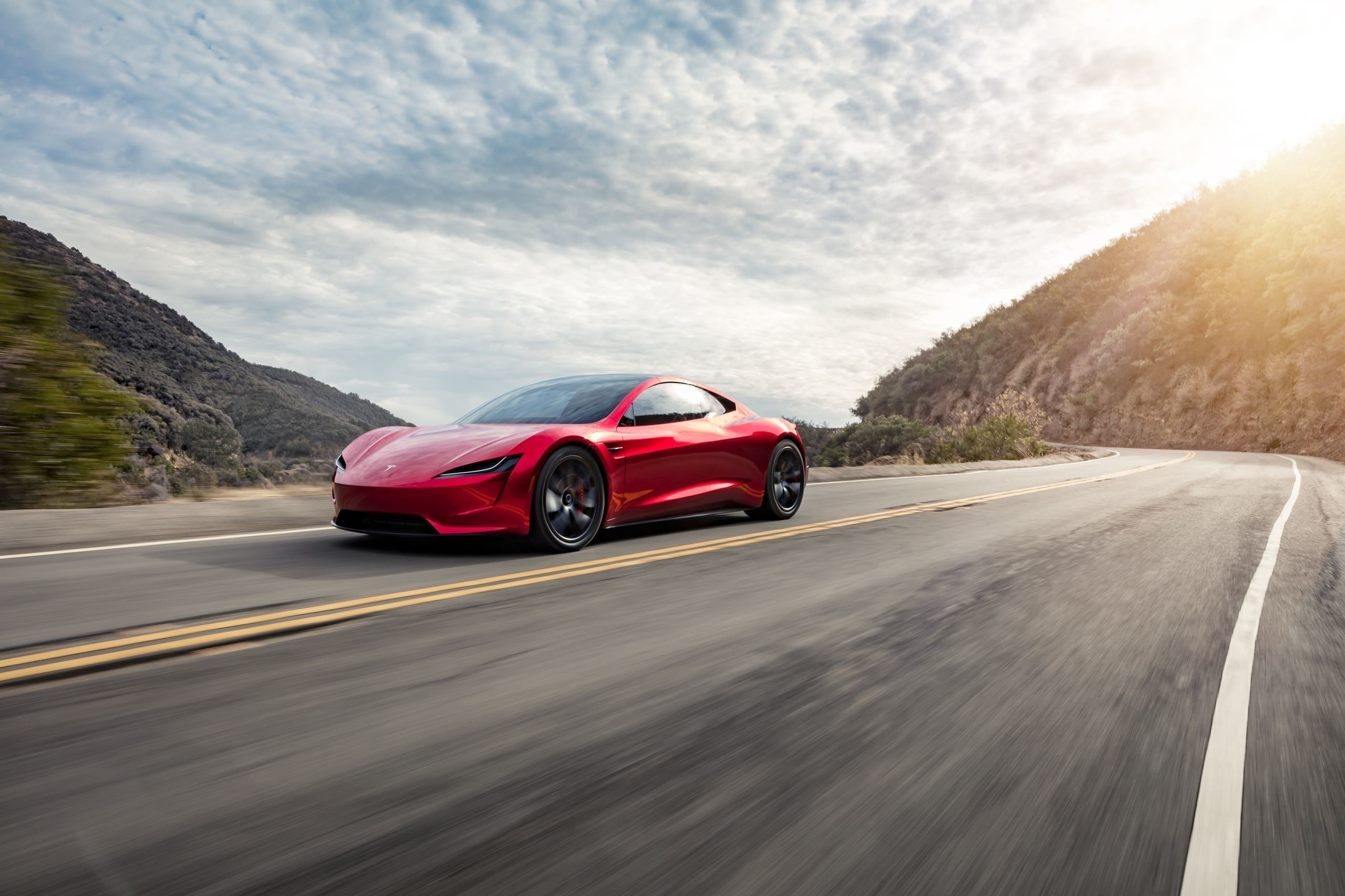 Tesla Roadster Desktop Wallpapers