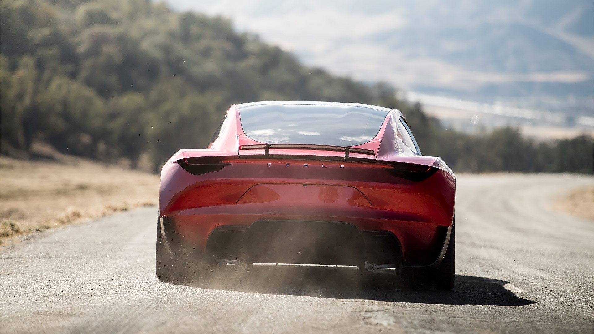 Tesla Roadster HD Background
