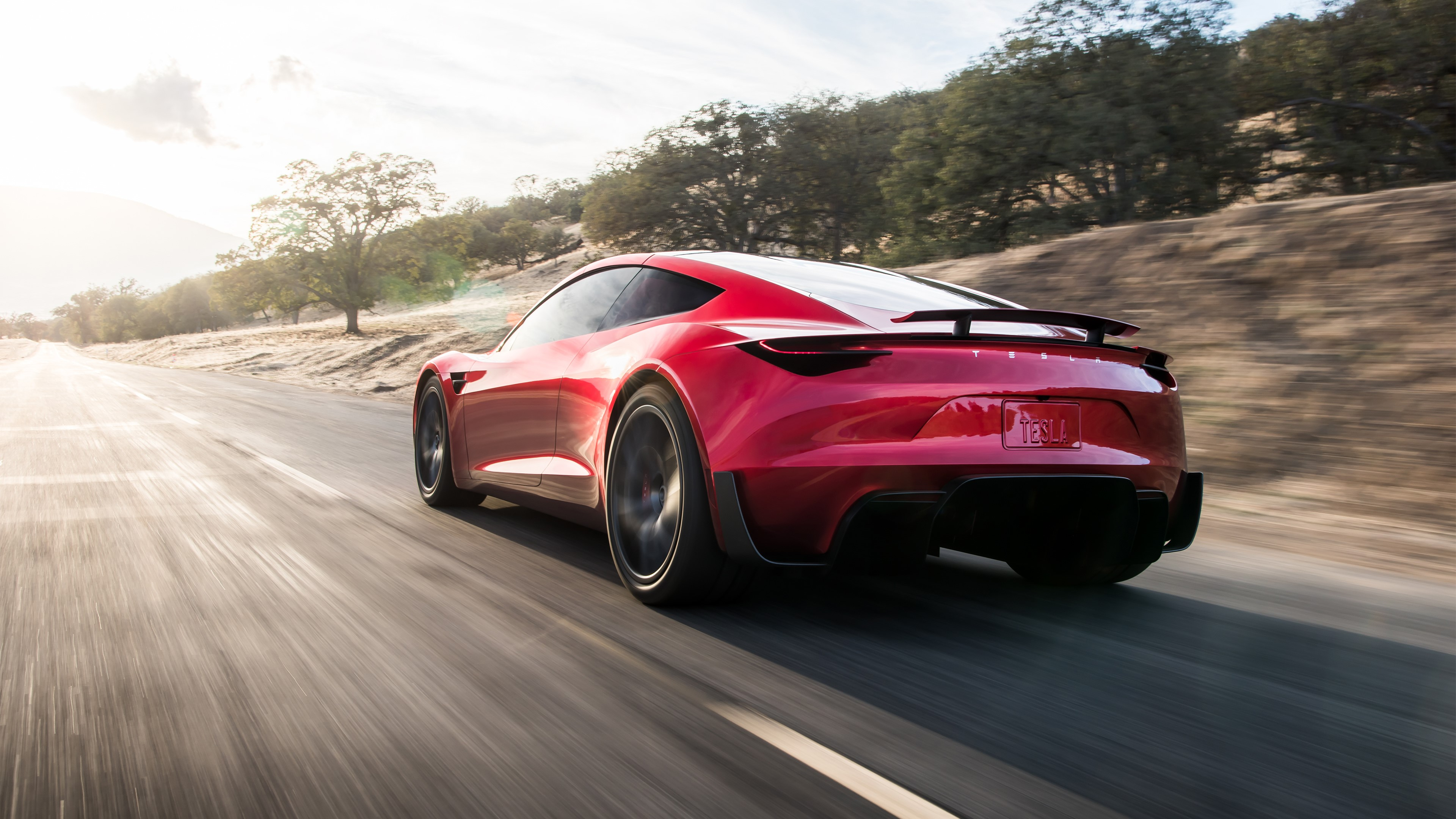 Tesla Roadster UHD Wallpapers