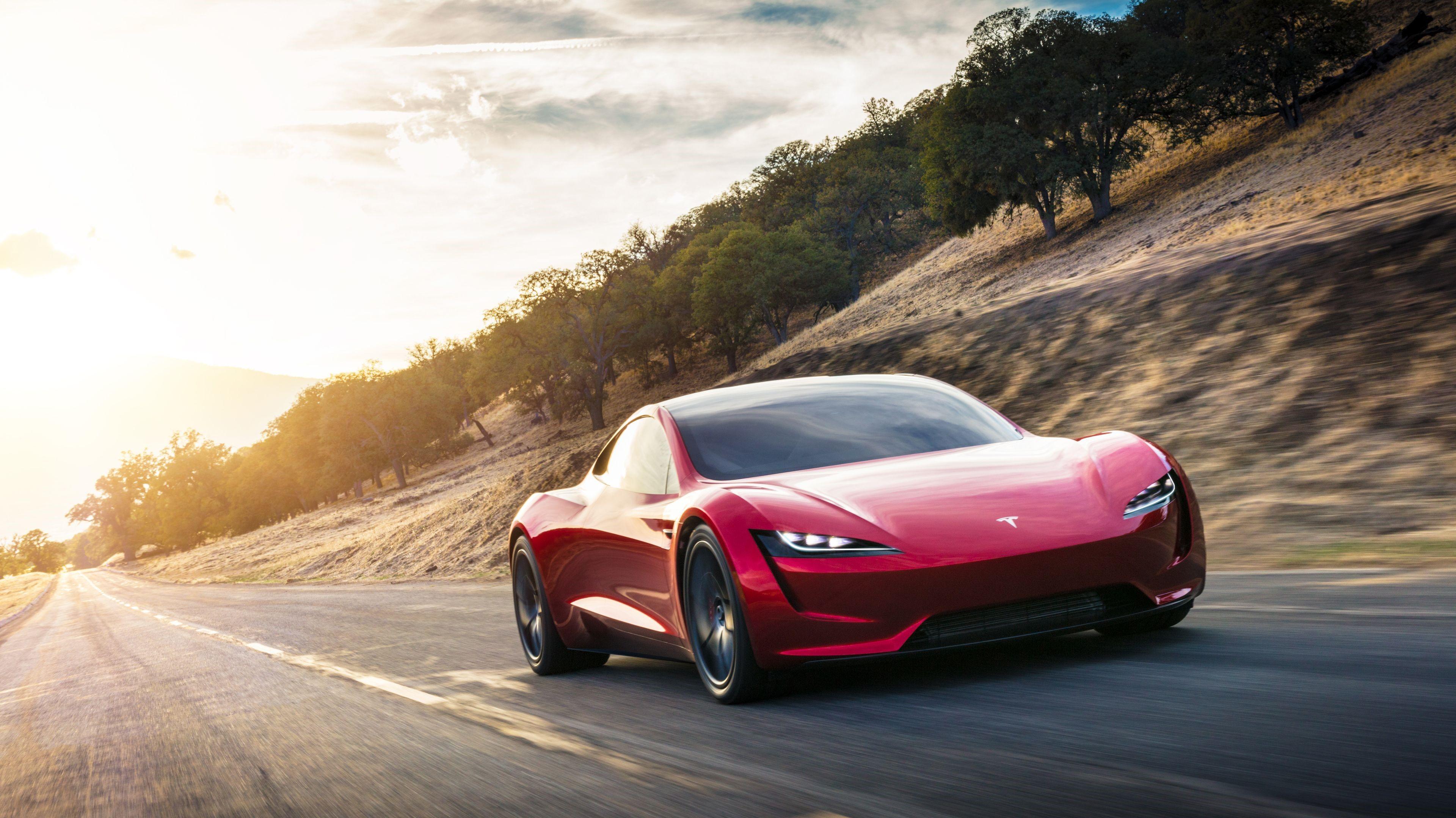 Tesla Roadster Wallpapers