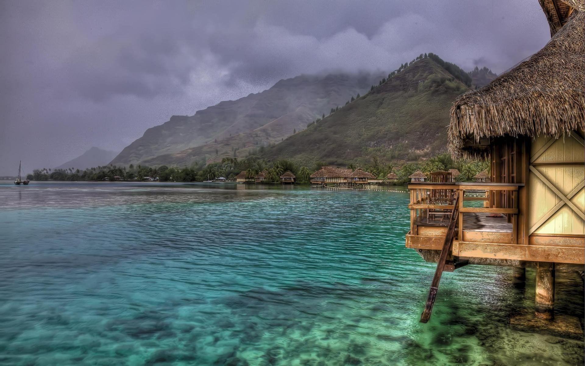 Tropical Beach Landscape HD Background
