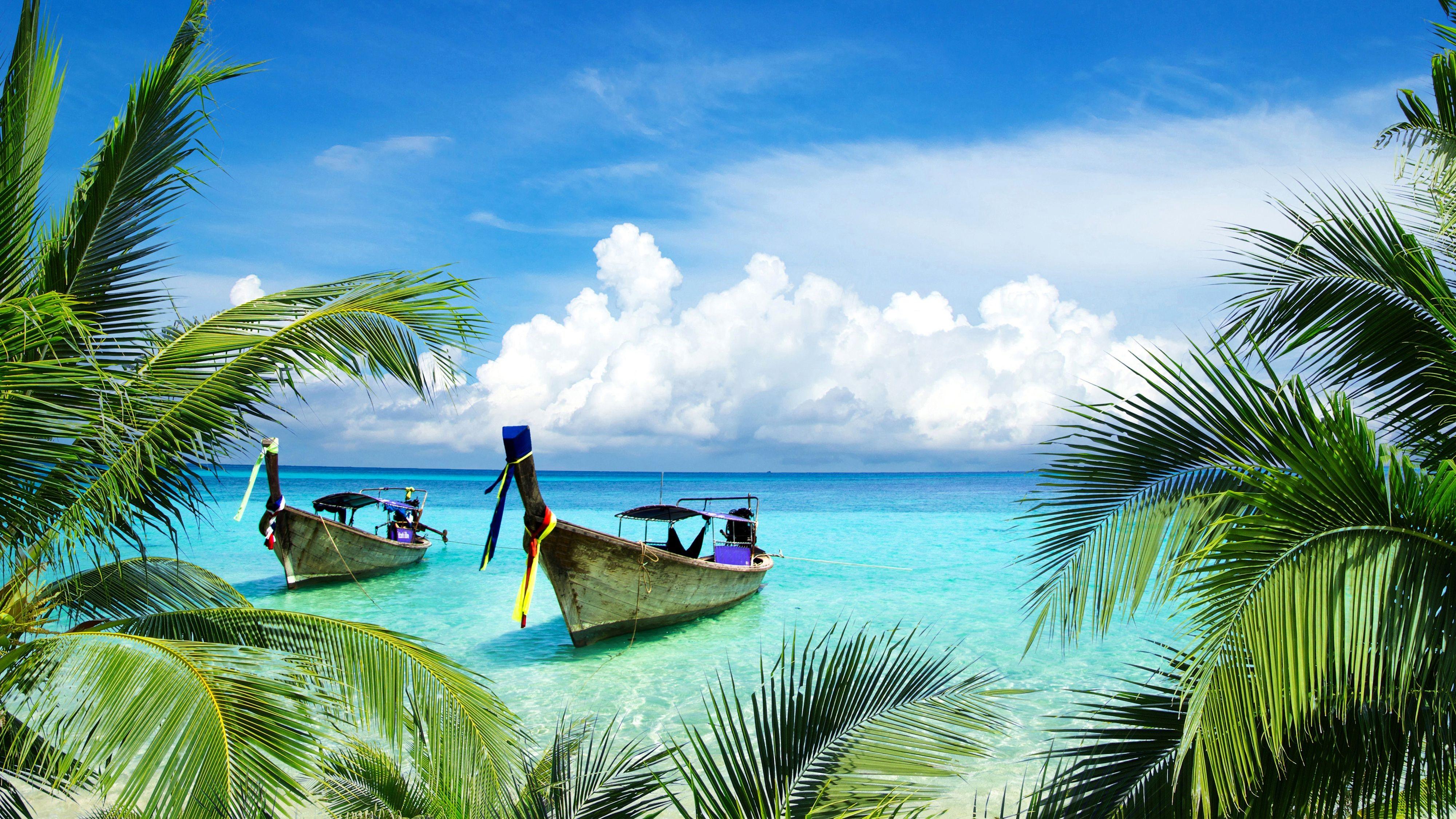 Tropical Beach Landscape UHD Wallpapers