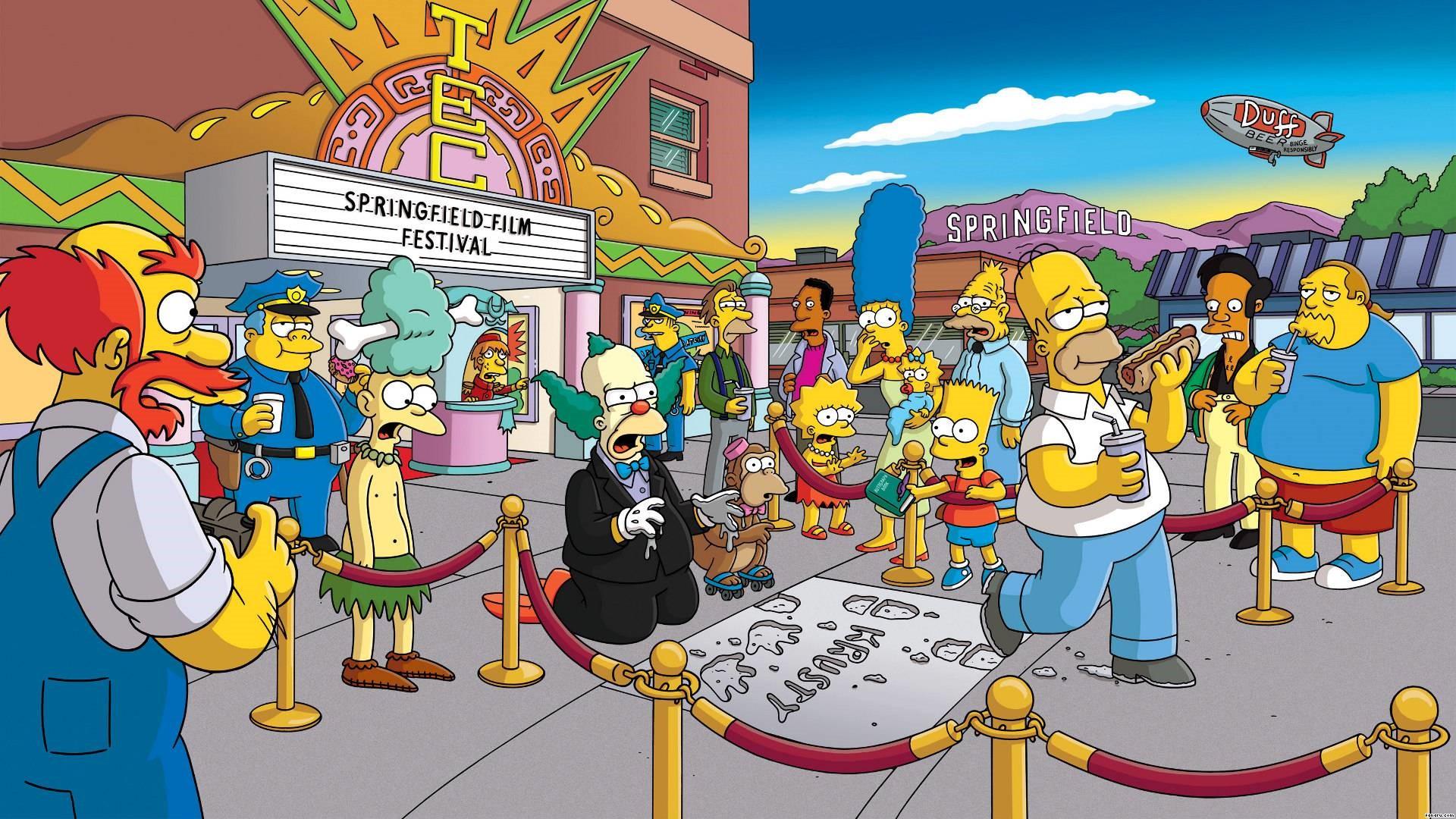 Simpsons Mobile HD Wallpaper