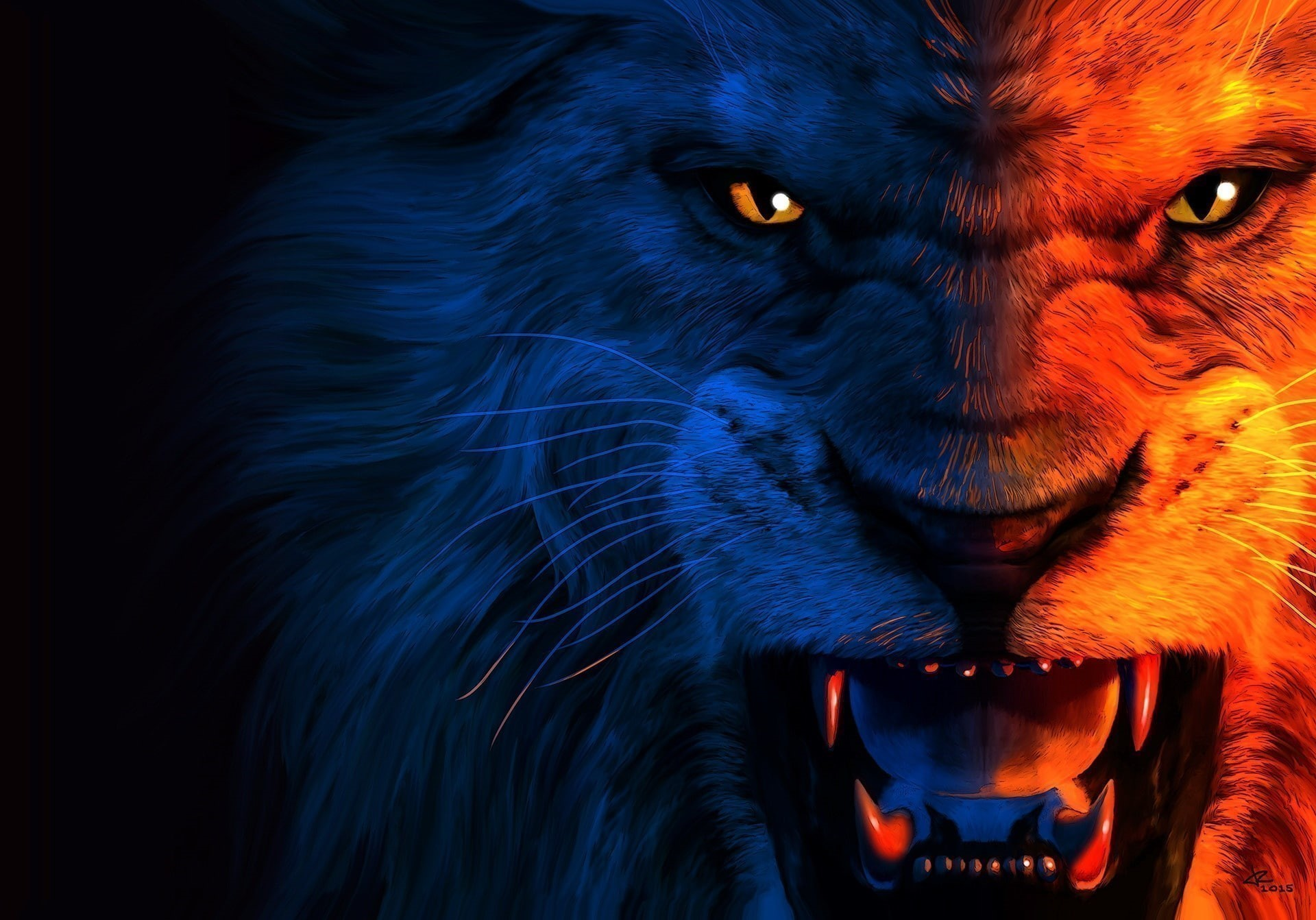 Angry Lion Hd Desktop Wallpaper Wallpaper Download High Resolution 4k Wallpaper