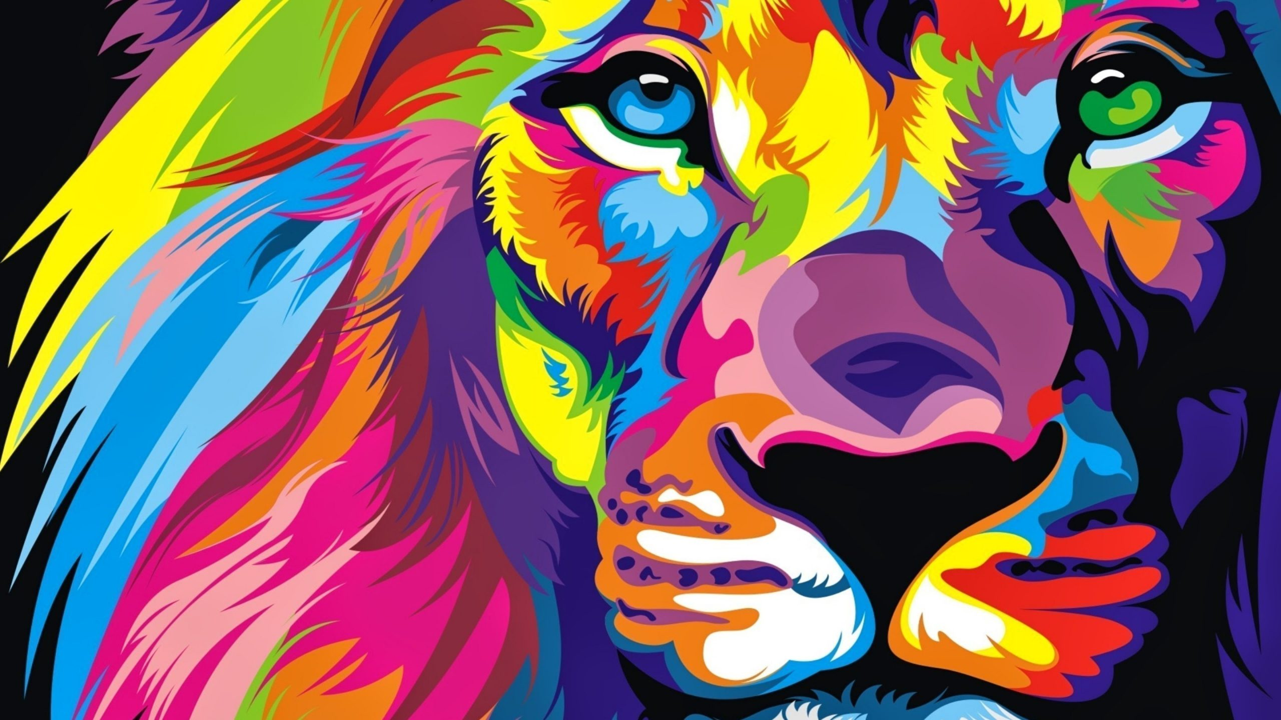 Colorful Lion HD 4K Wallpapers scaled