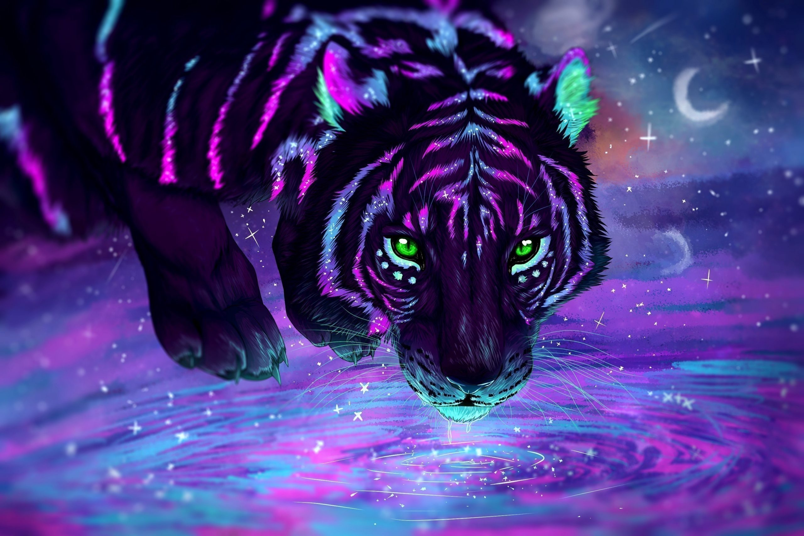 Cool Tiger Wallpaper scaled