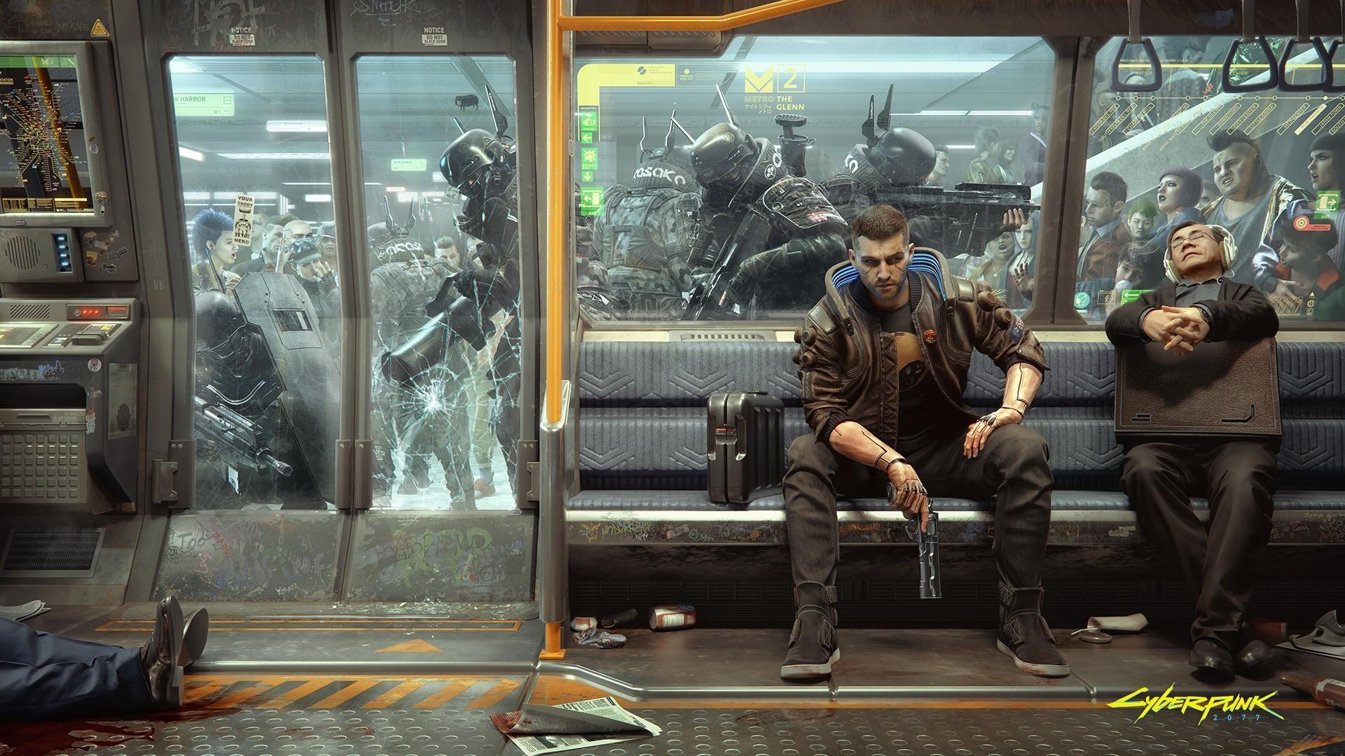 Cyberpunk 2077 Metro Wall