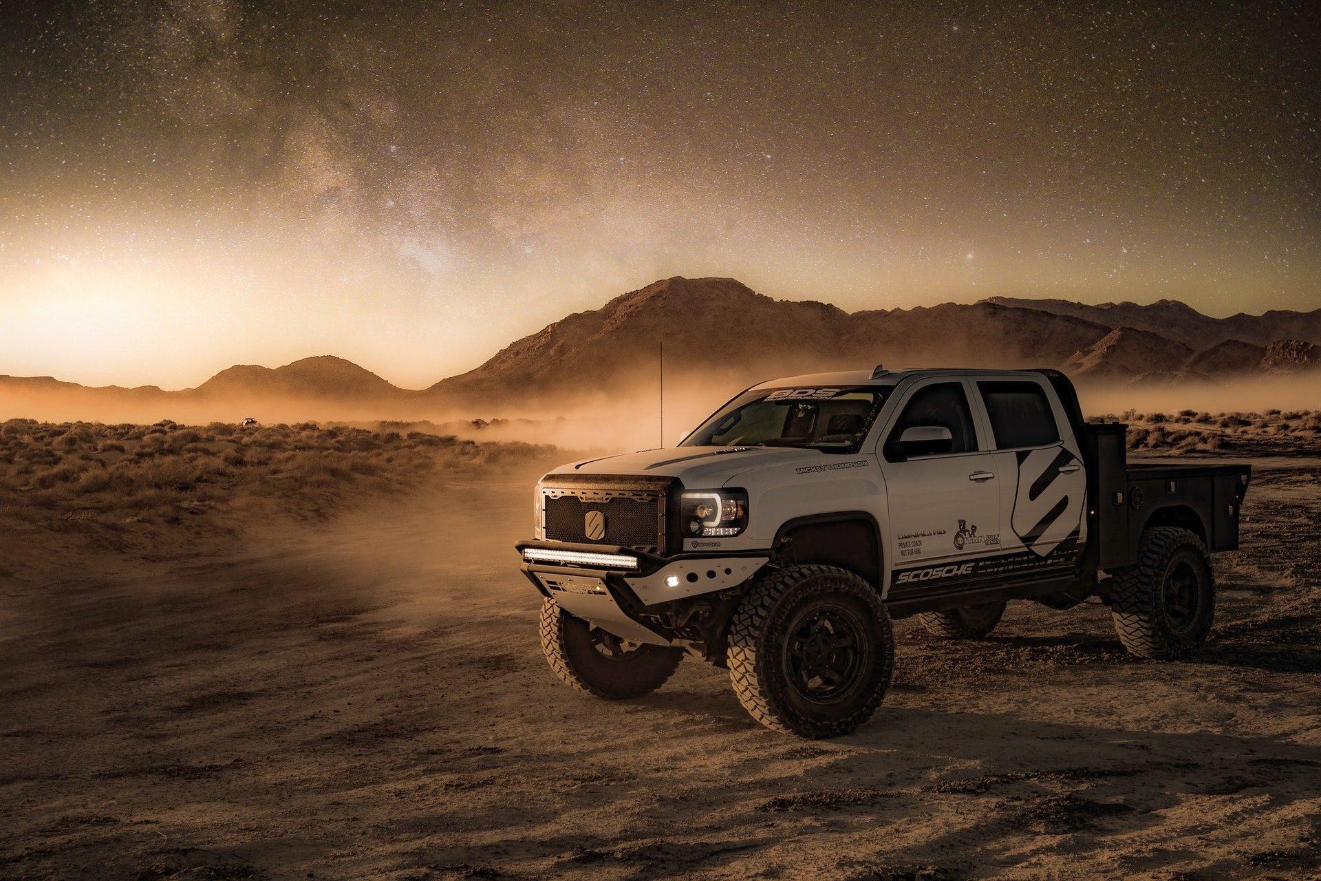 Pickup Truck 4K Wallpaper