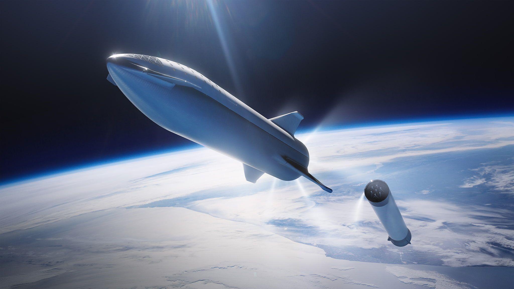 Space X Rocket Wallpaper