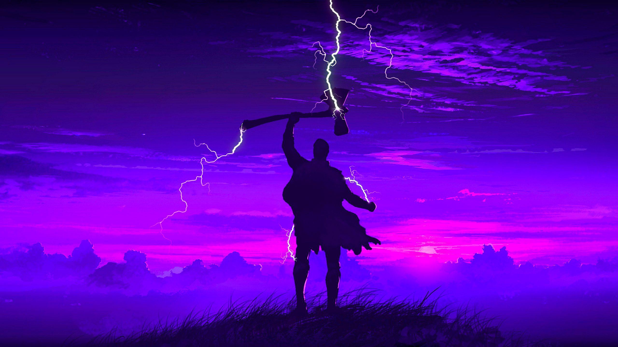 Thor Art 4K Wallpaper
