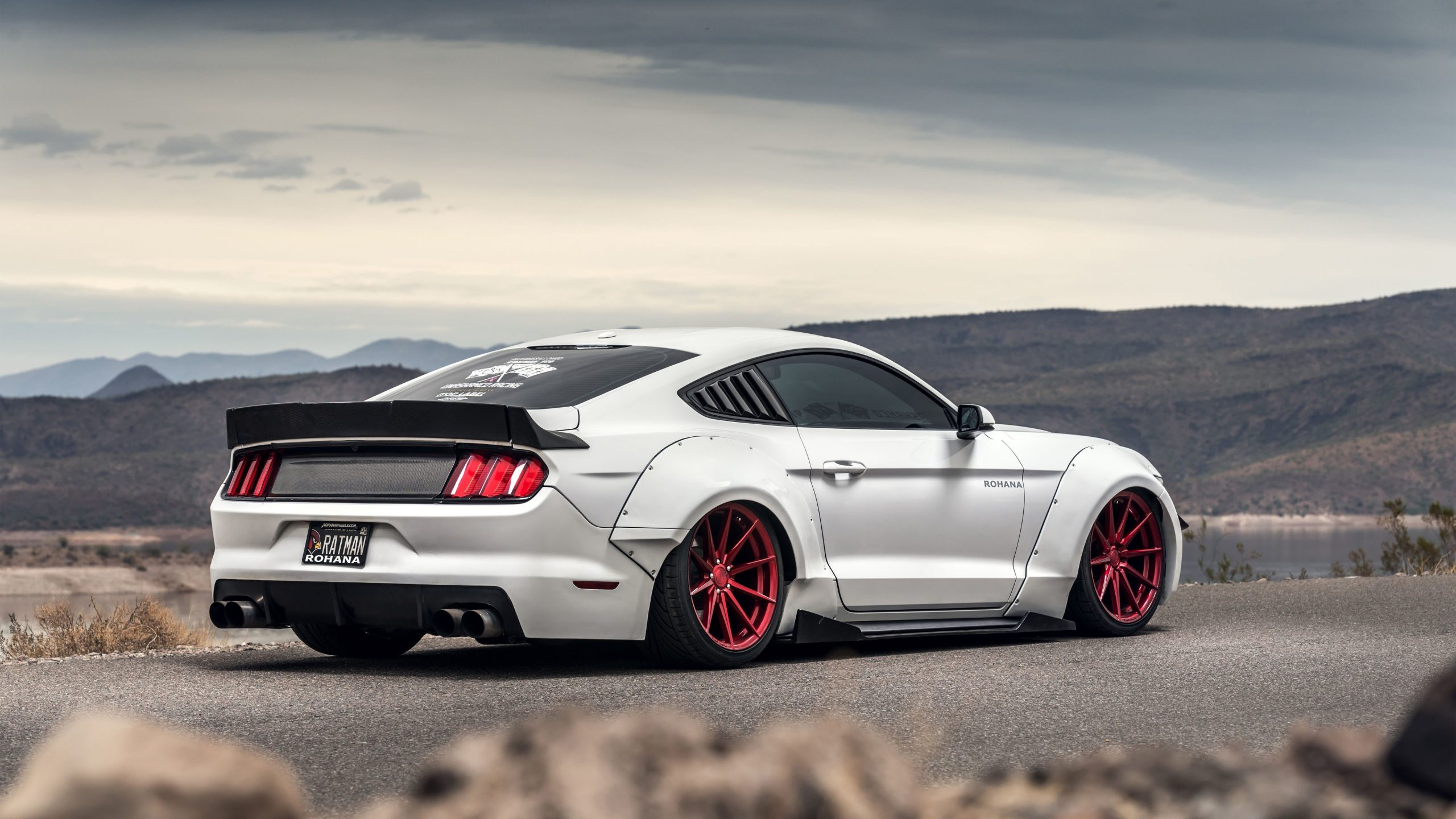 White Fort Mustang GT Wallpaper 4K