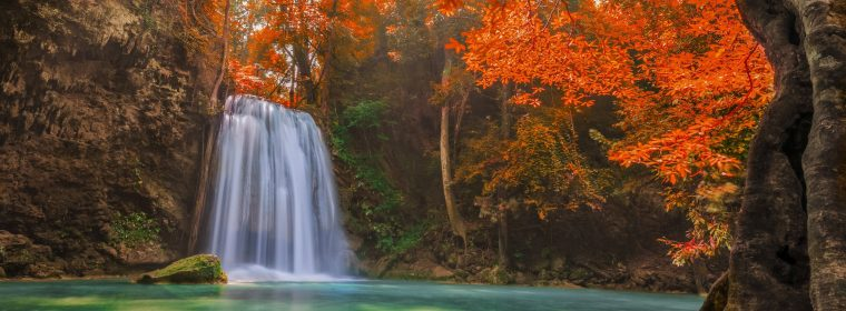Wallpaper Waterfall, 5k, 4k wallpaper, Thailand, travel, tourism, River, autumn, Travel
